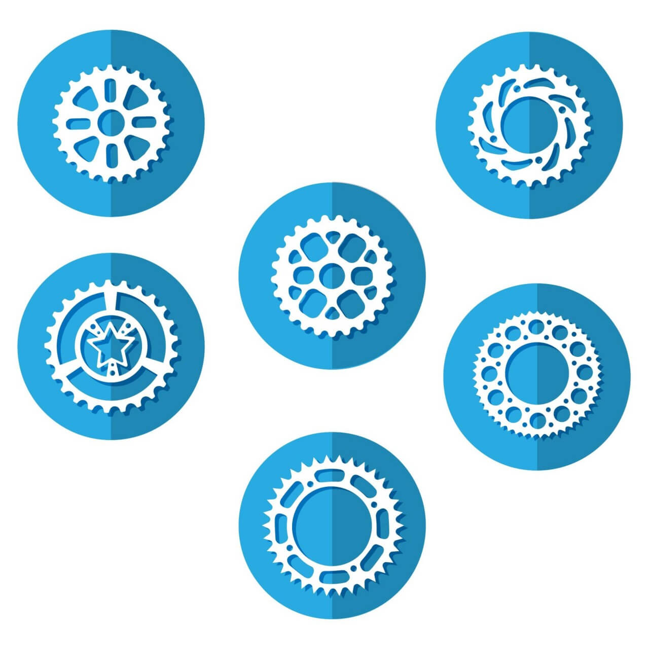 "Free vector ""Bike Sprocket Icons"""