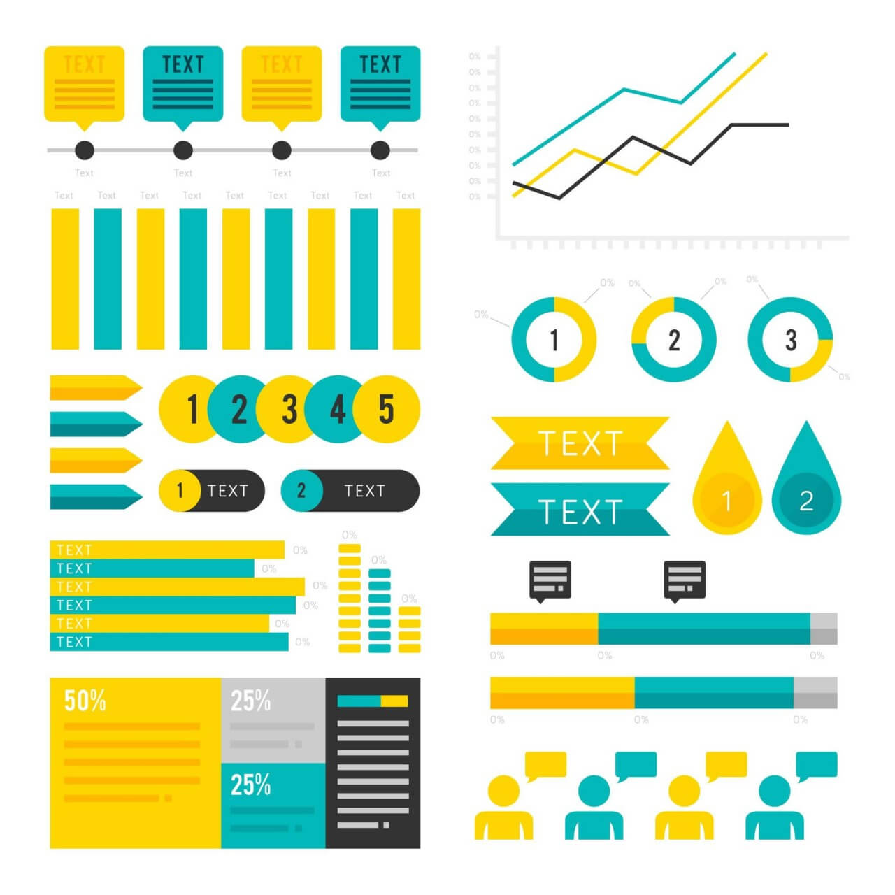 """Free vector """"Infographic Assets"""""""