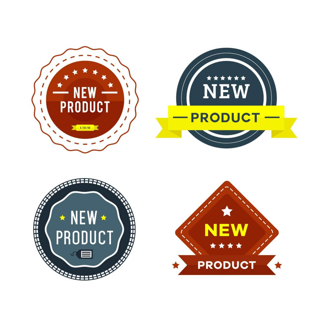 "Free vector ""New Product Badges"""