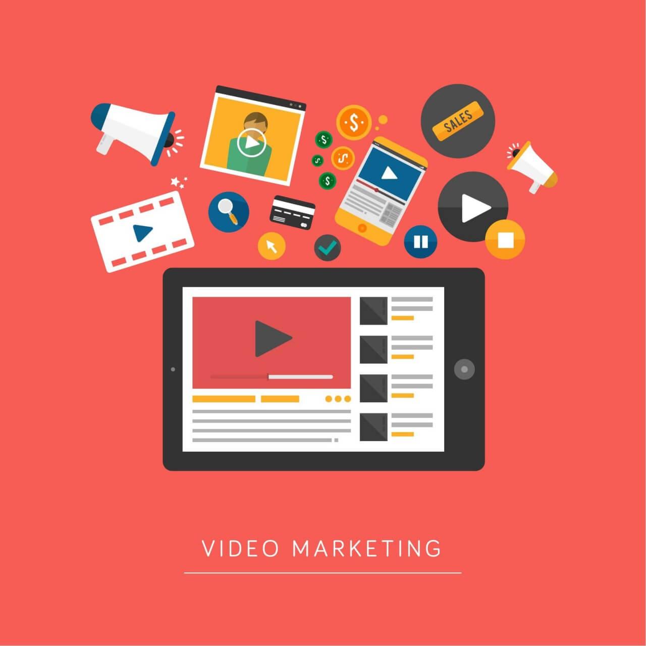 "Free vector ""Video Marketing"""