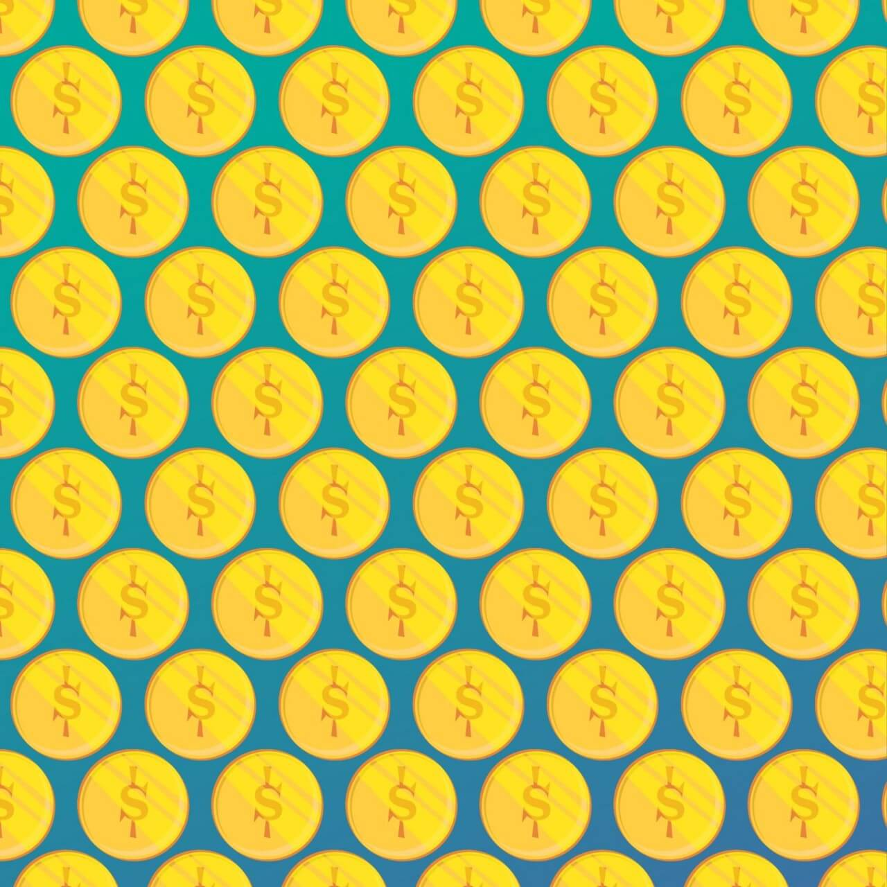 "Free vector ""Pattern illustration with coins"""