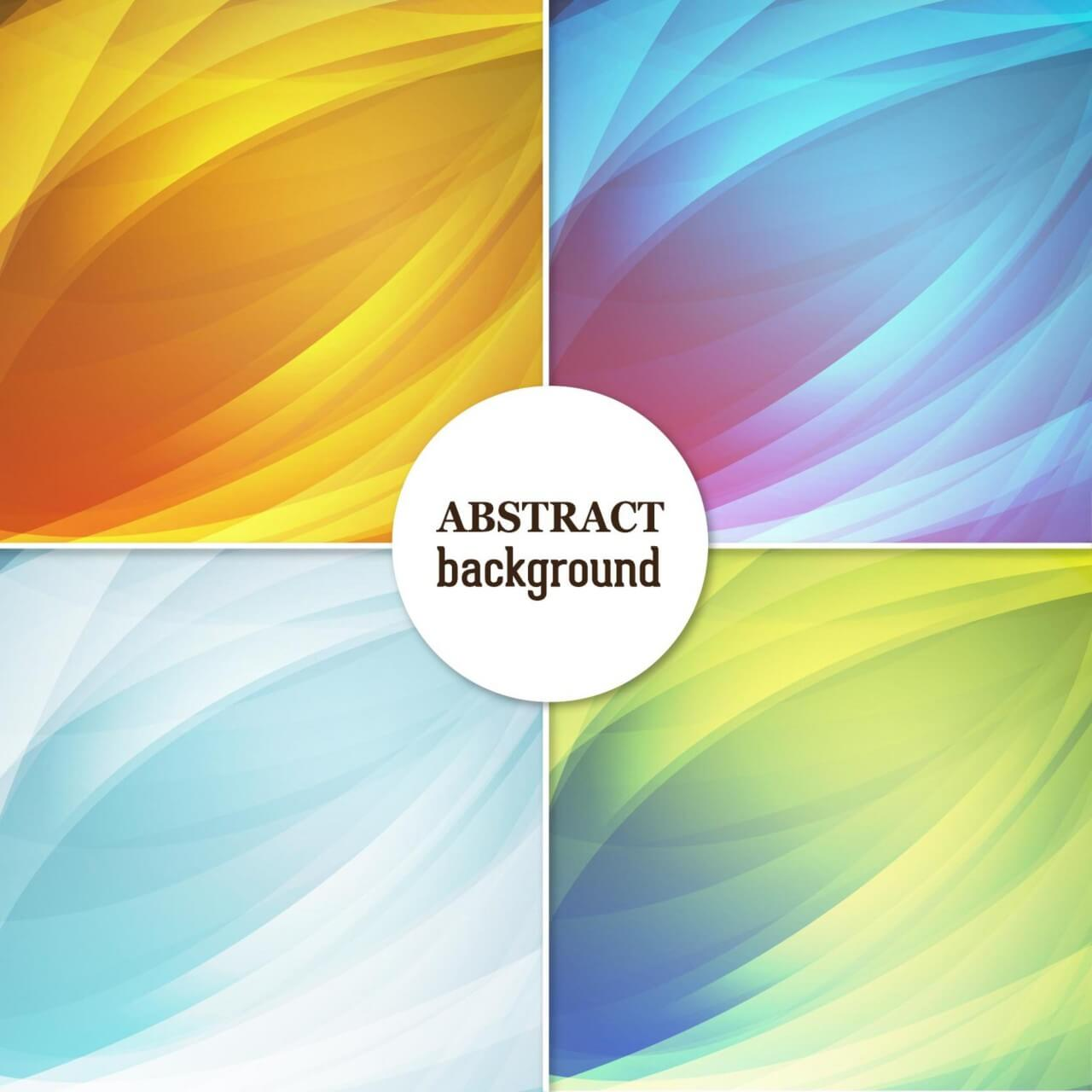 "Free vector ""Set of abstract backgrounds"""