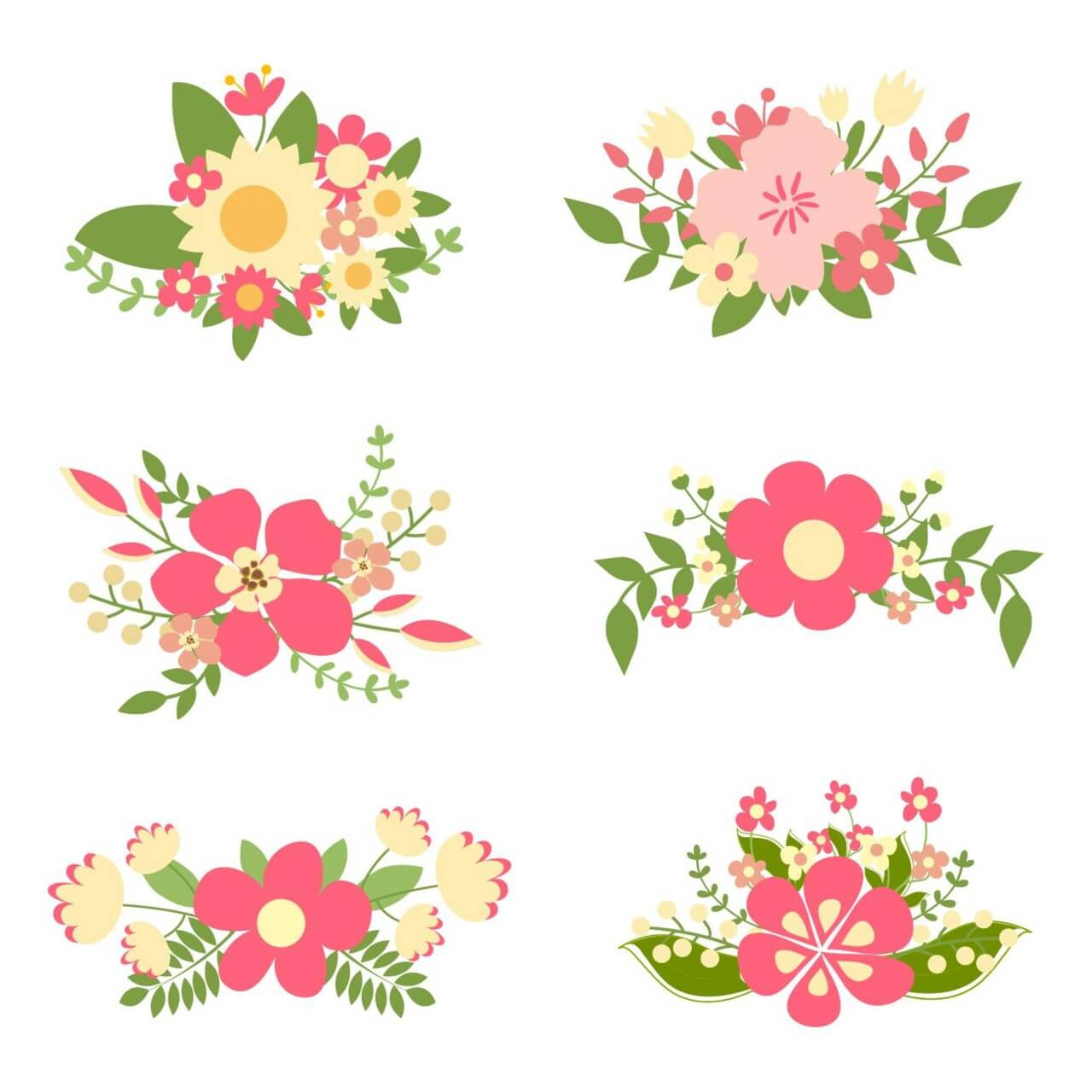 """Free vector """"Hand drawn floral elements"""""""