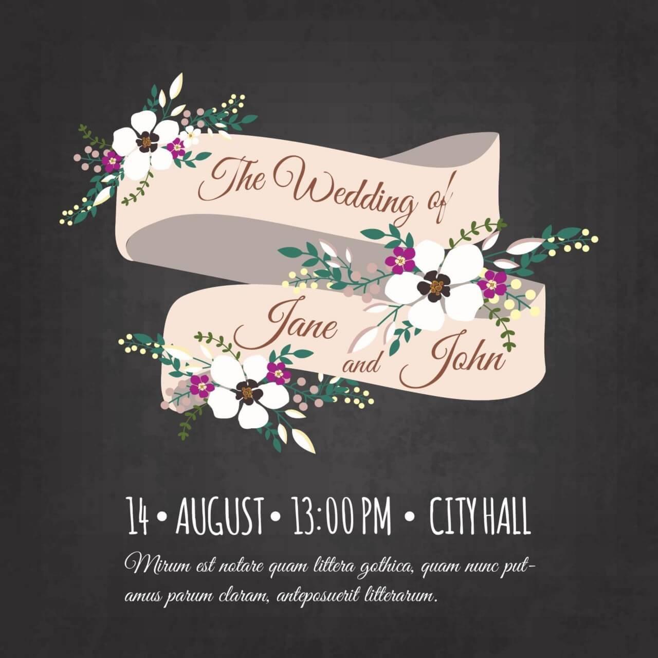 "Free vector ""Wedding invitation card"""