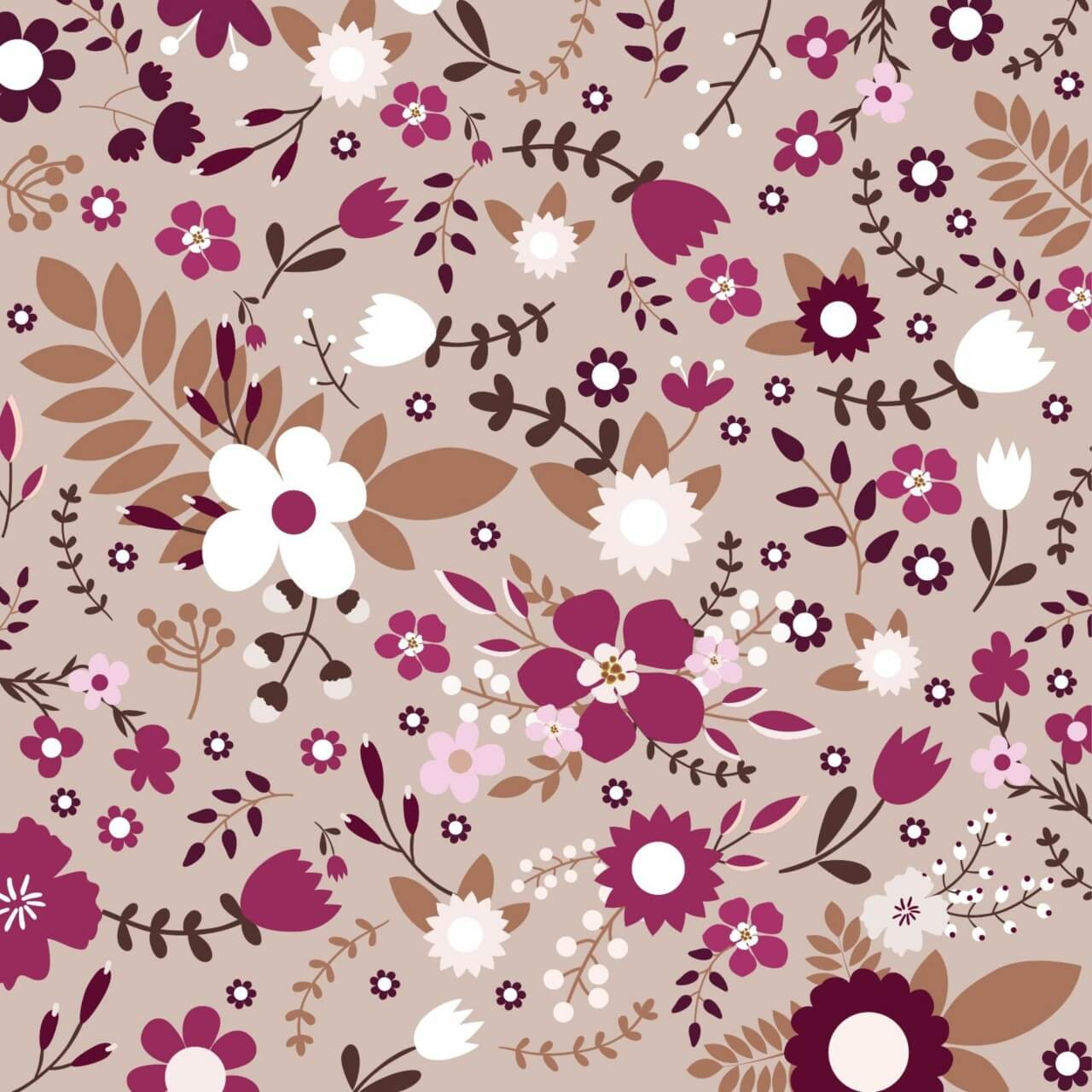 "Free vector ""Retro floral seamless pattern"""