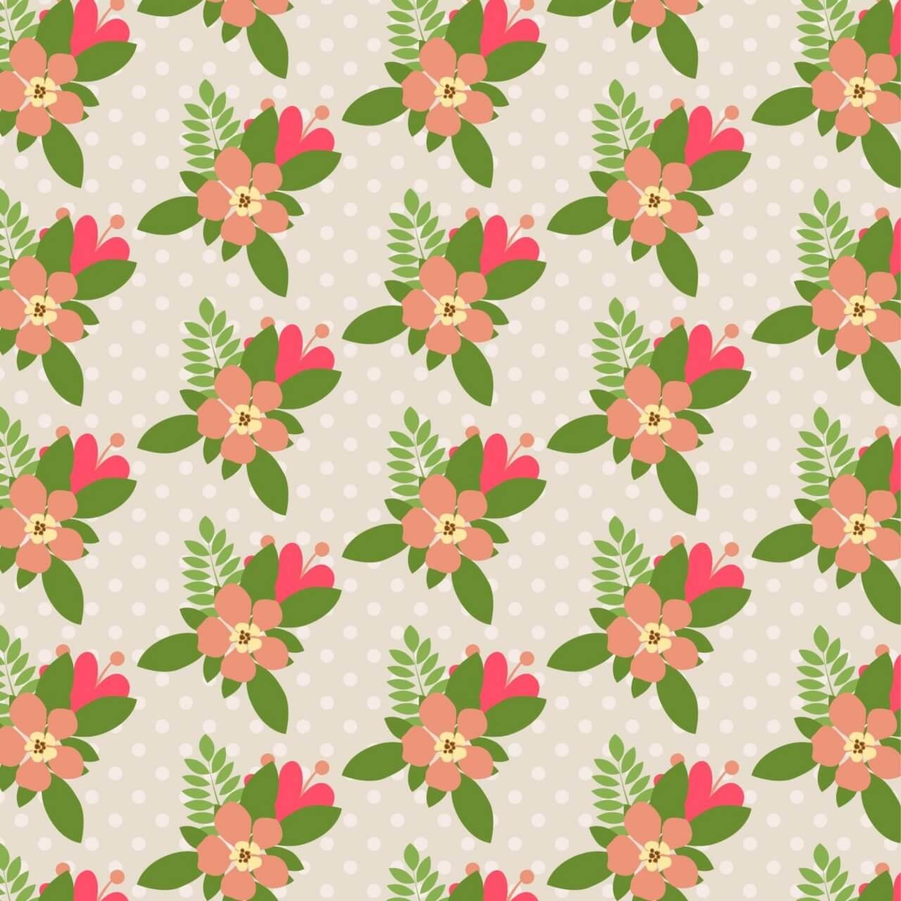 "Free vector ""Seamless flower pattern"""