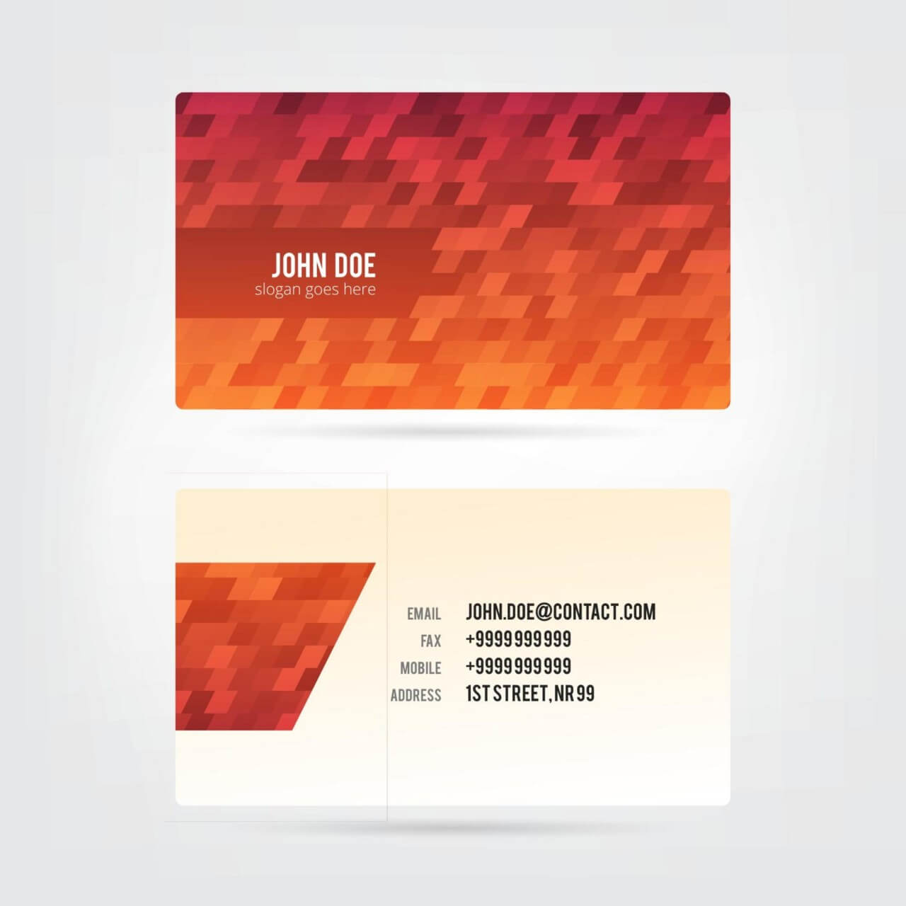 "Free vector ""Modern Abstract Business Card"""