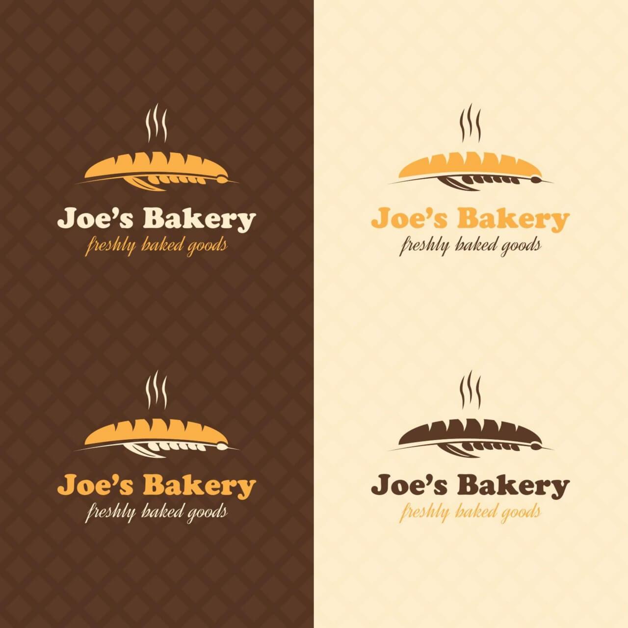 """Free vector """"Bakery retro logo design"""""""