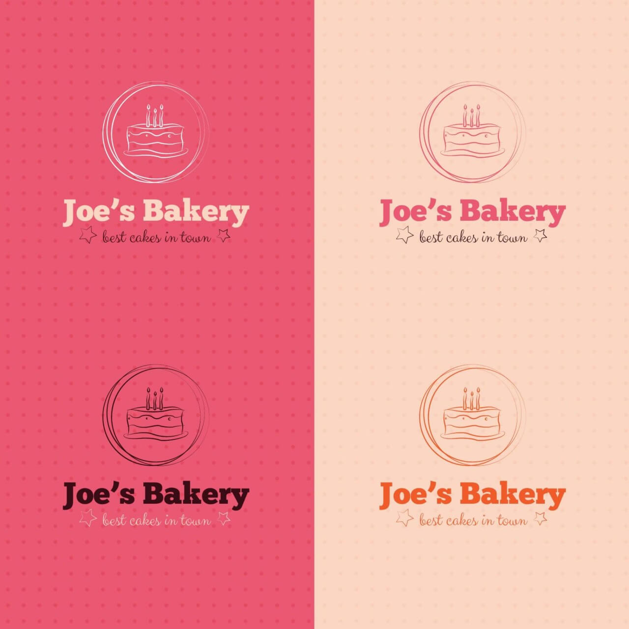 "Free vector ""Bakery cake logo design"""