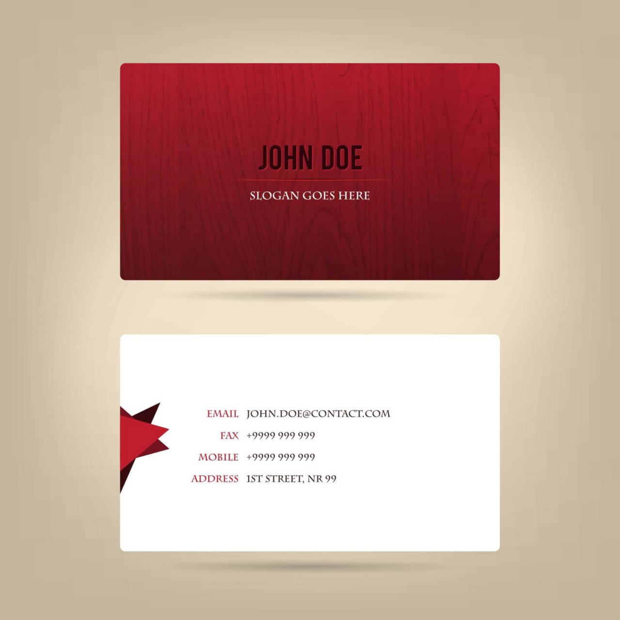 "Free vector ""Abstract business card, wood texture"""