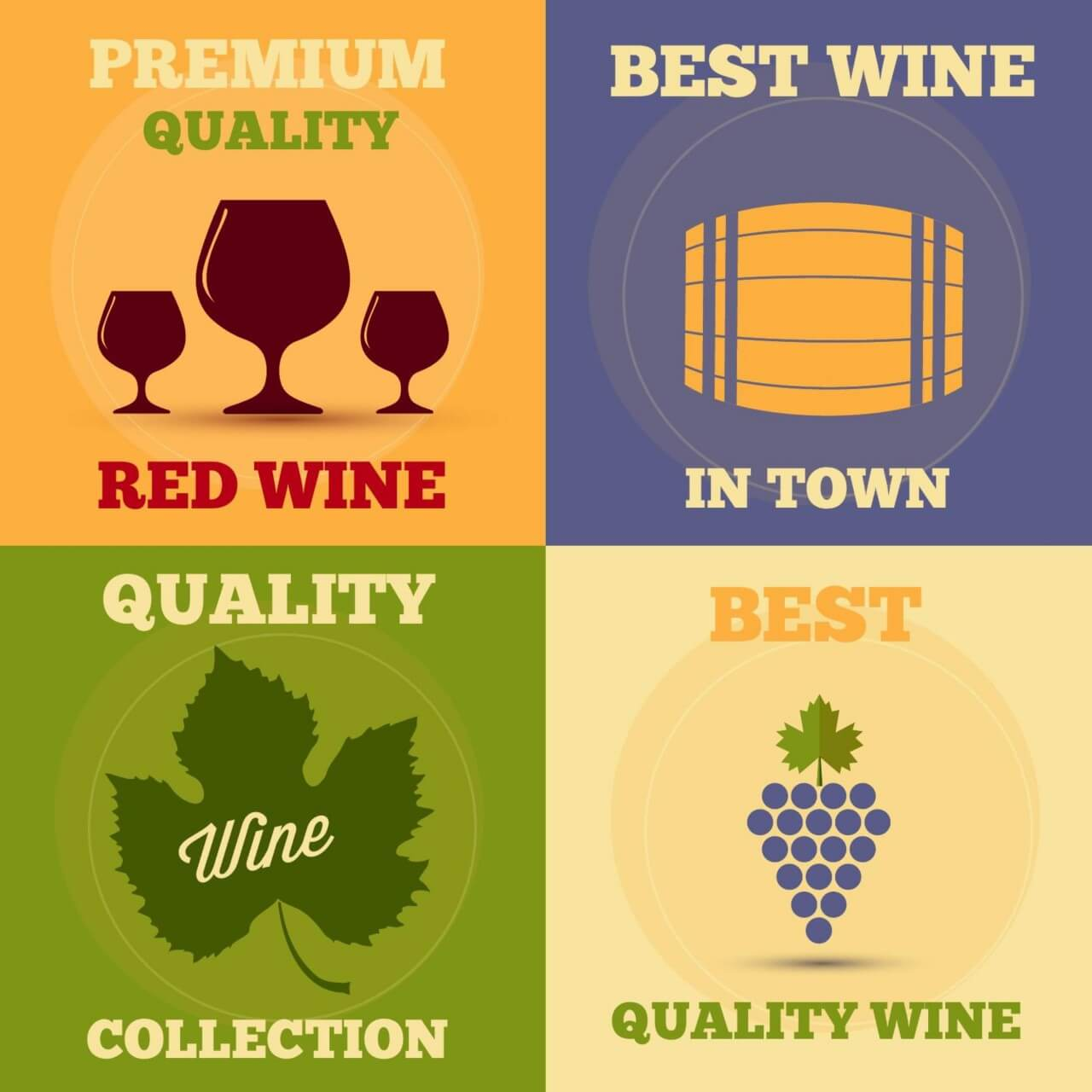 "Free vector ""Retro wine posters set"""