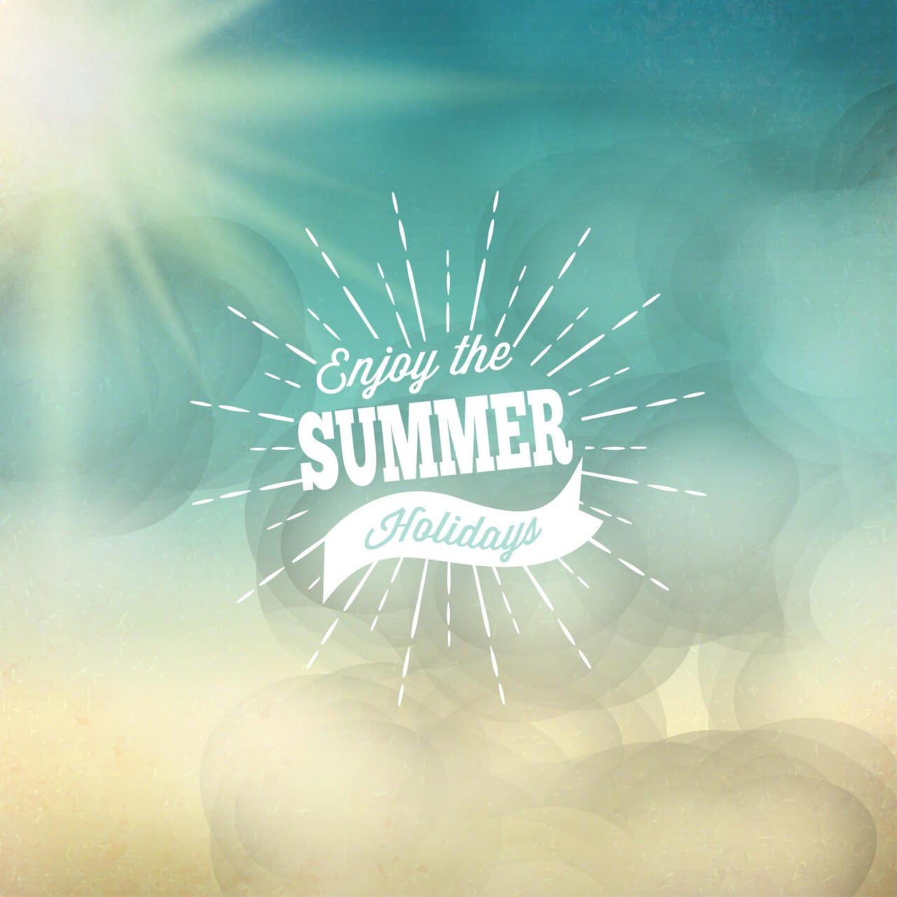 "Free vector ""Retro summer illustration"""