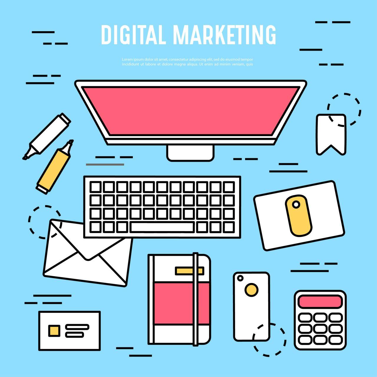 "Free vector ""Vector digital marketing design elements"""