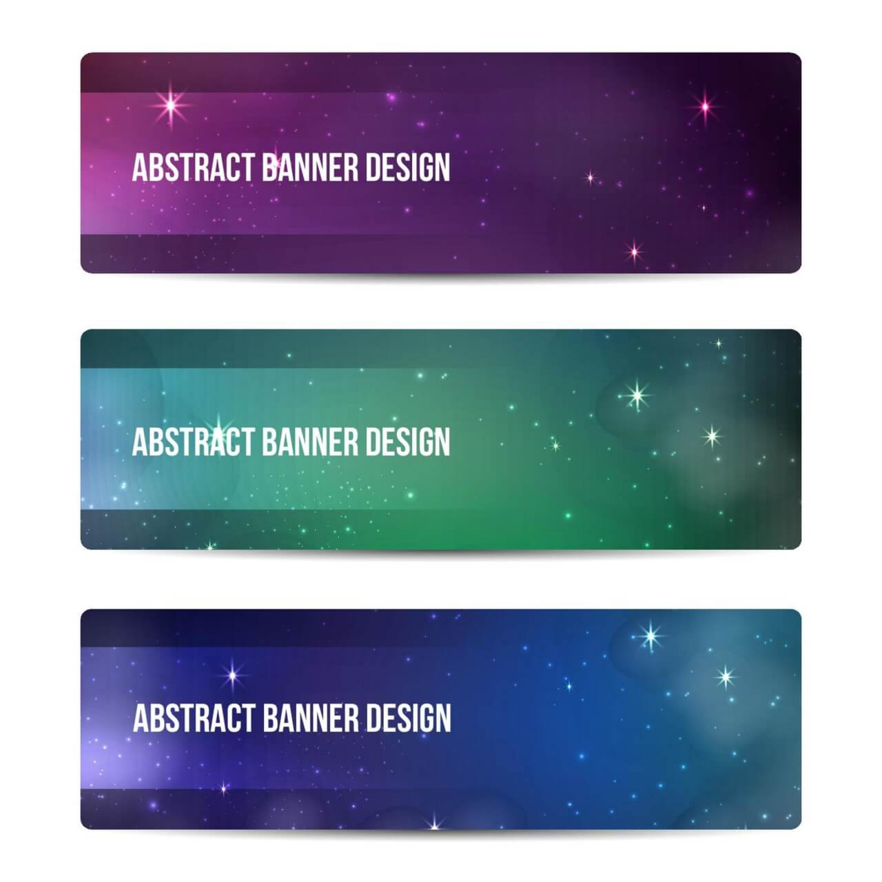 "Free vector ""Starry sky banners design"""