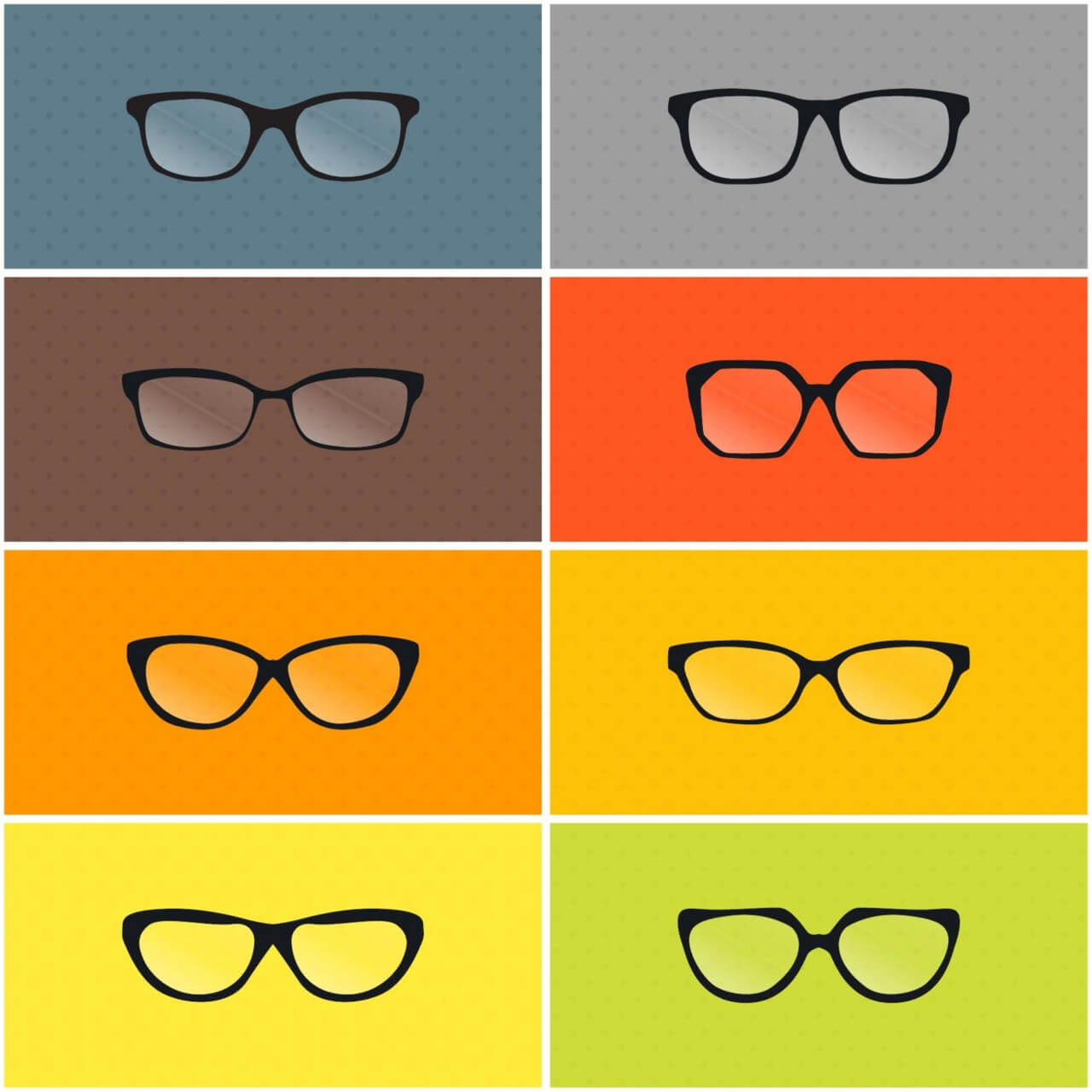 "Free vector ""Vector Glasses Set"""