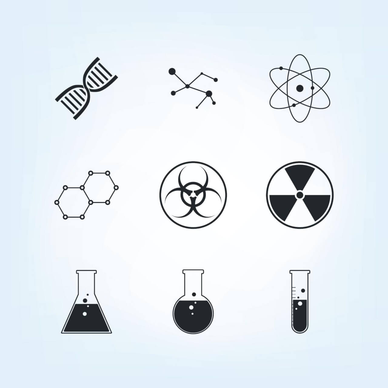 "Free vector ""Chemistry Icons Set"""