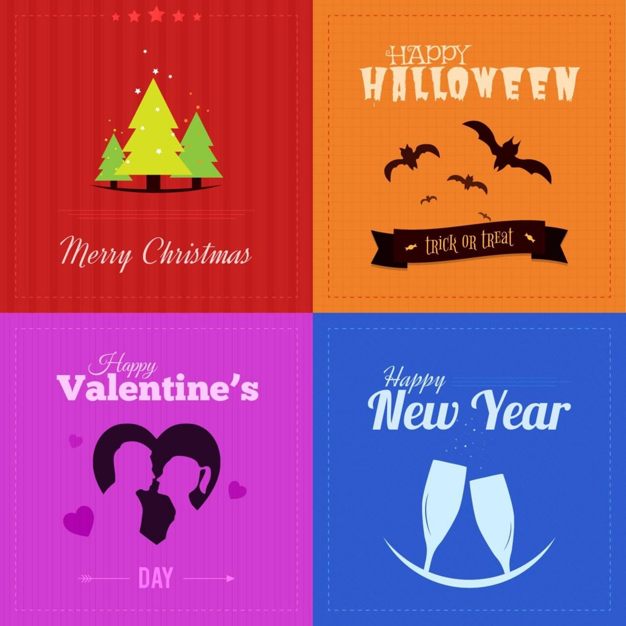 "Free vector ""Holiday Badges"""