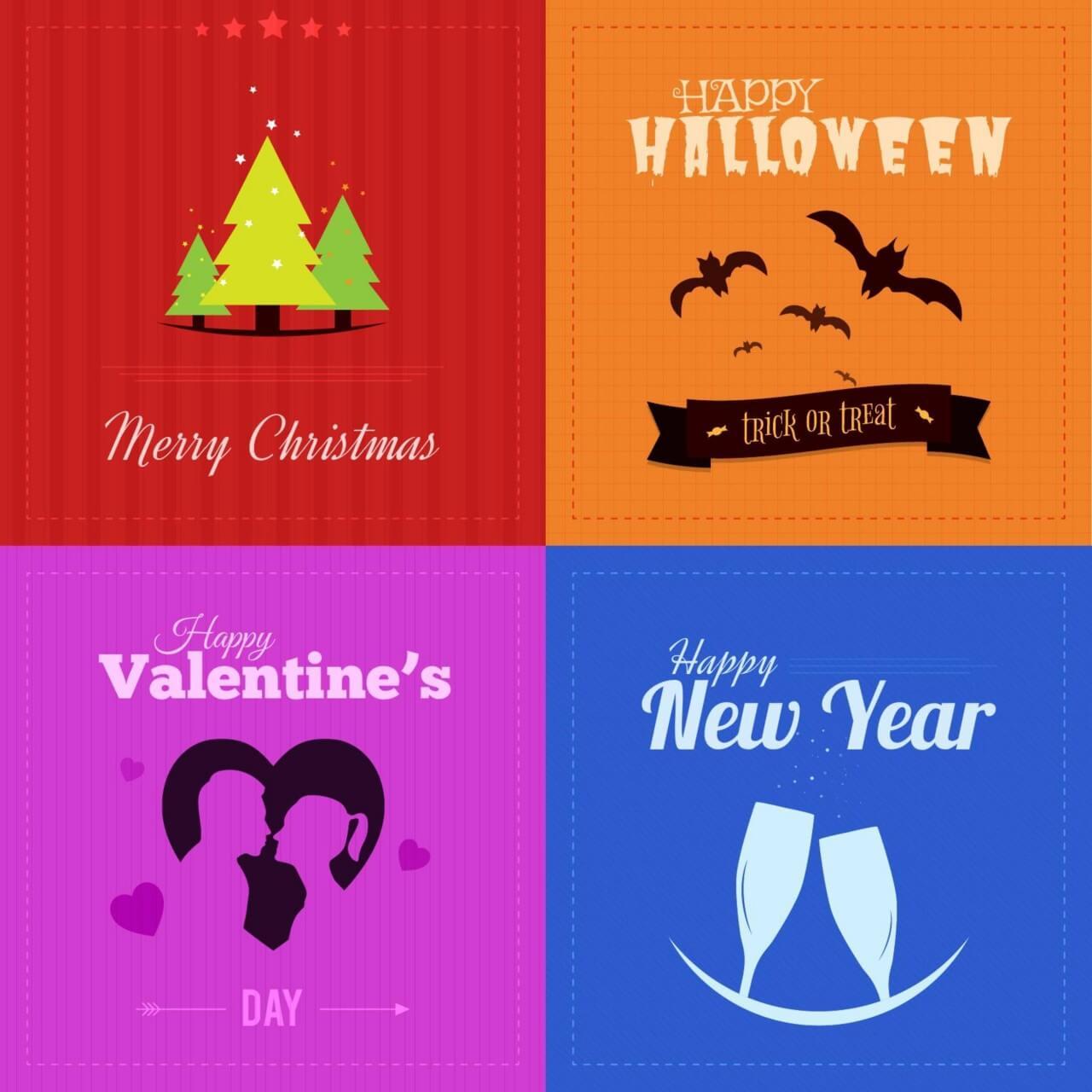 "Free vector ""Holiday Badges"""