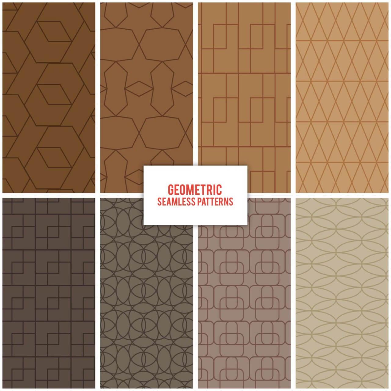 "Free vector ""Geometric Seamless Patterns"""