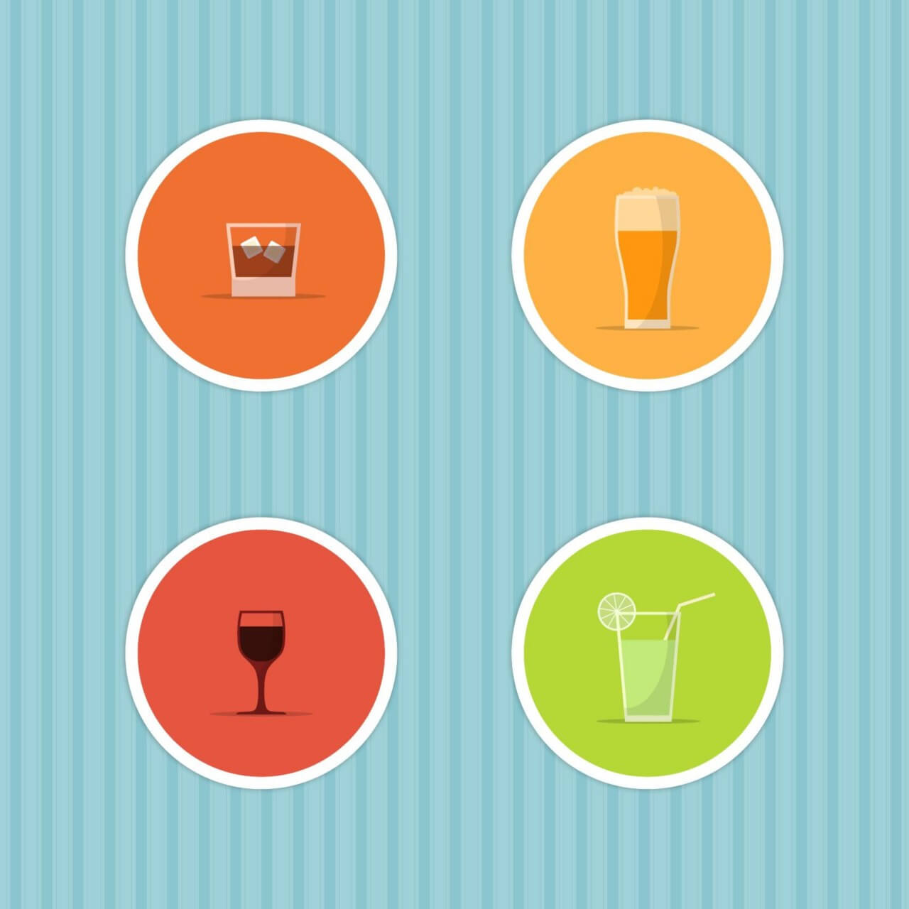 "Free vector ""Drinks Icon Set"""