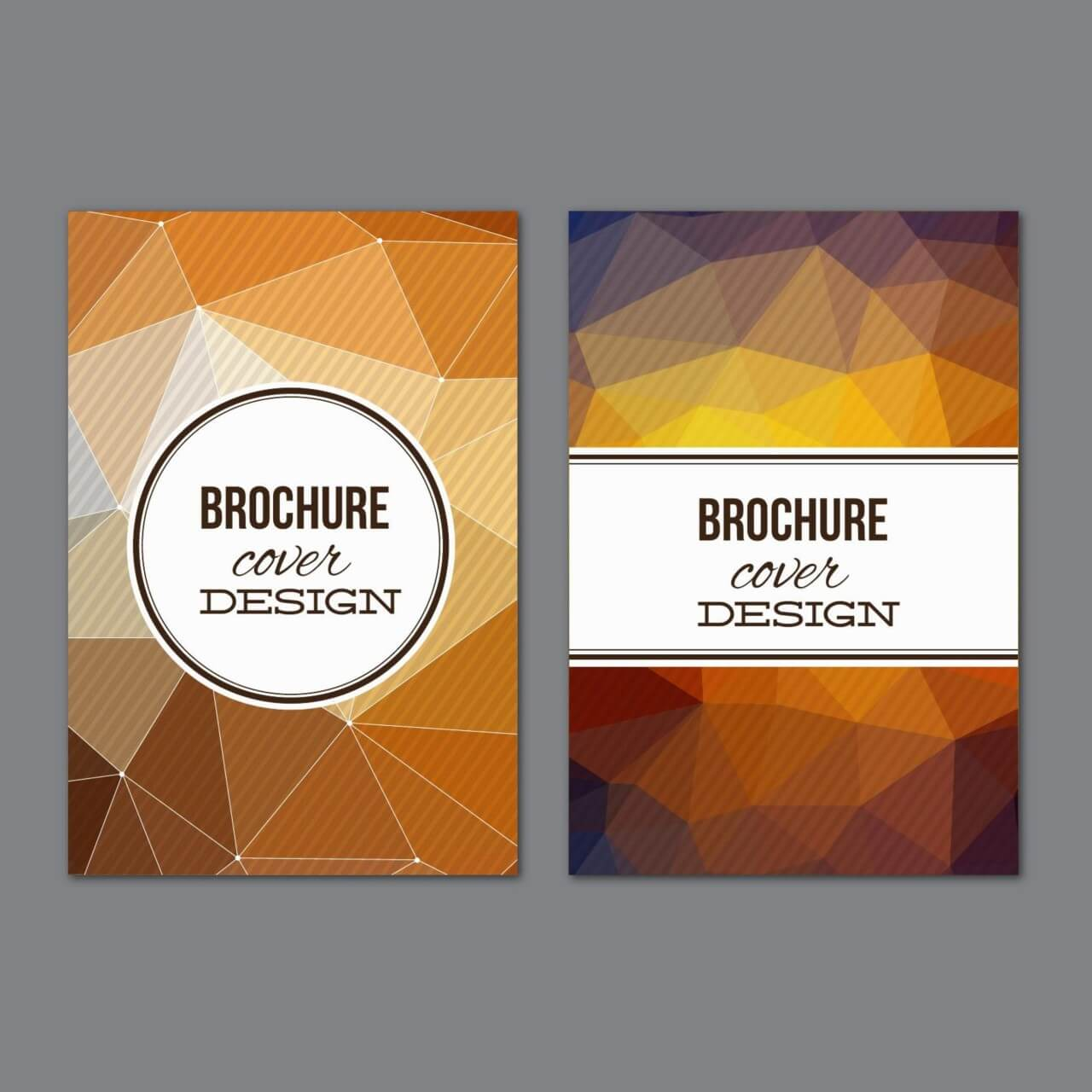 "Free vector ""Set of modern cover brochures"""