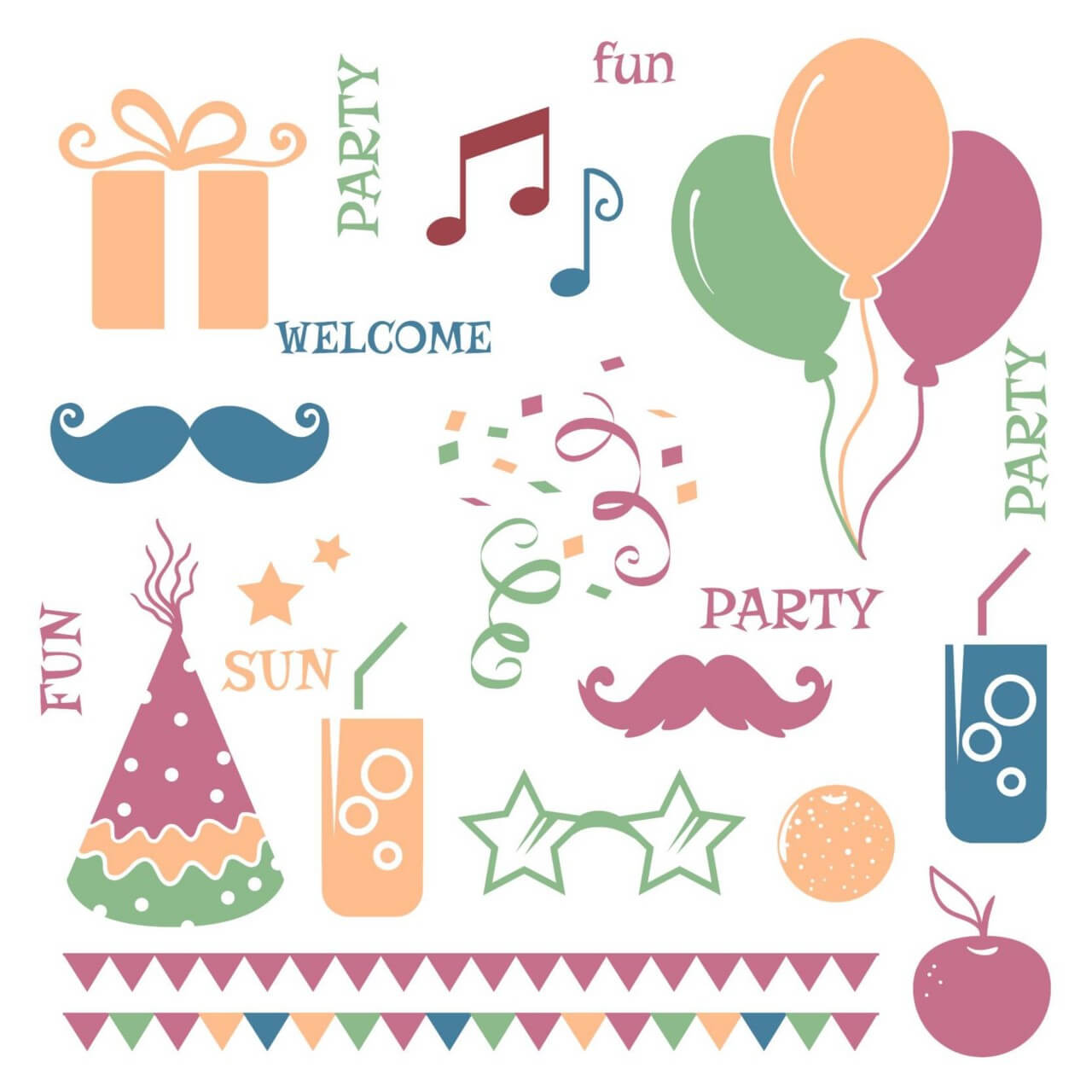 "Free vector ""Celebration vector elements"""