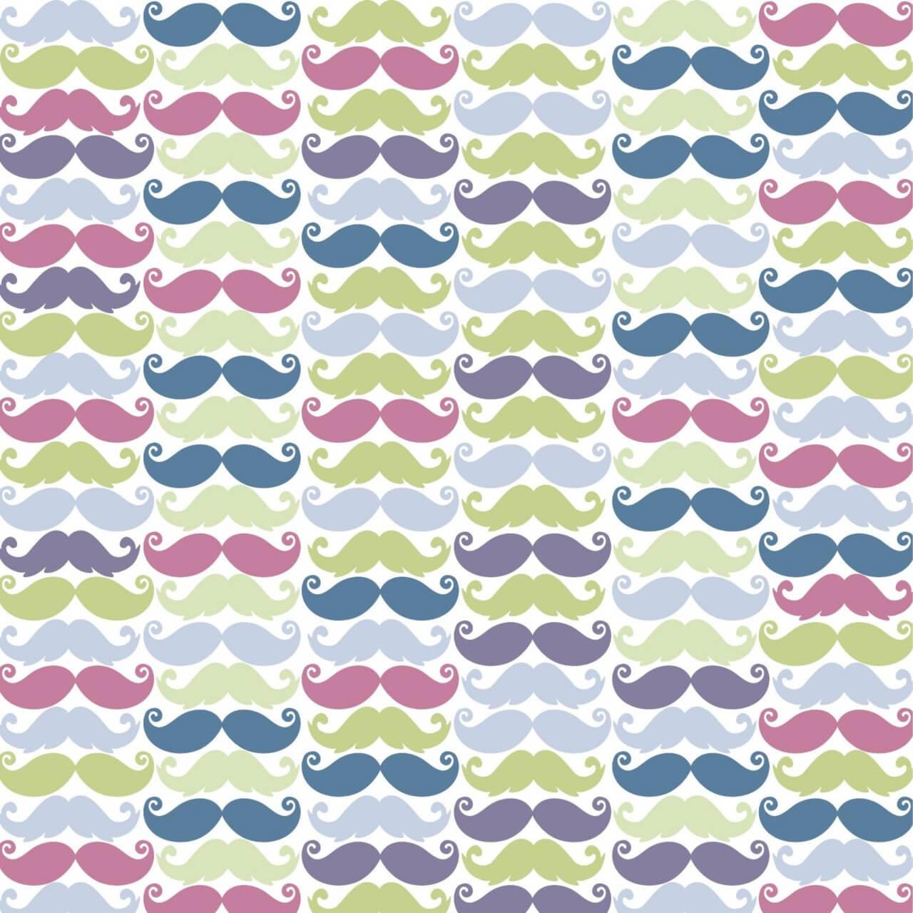 "Free vector ""Moustache pattern"""