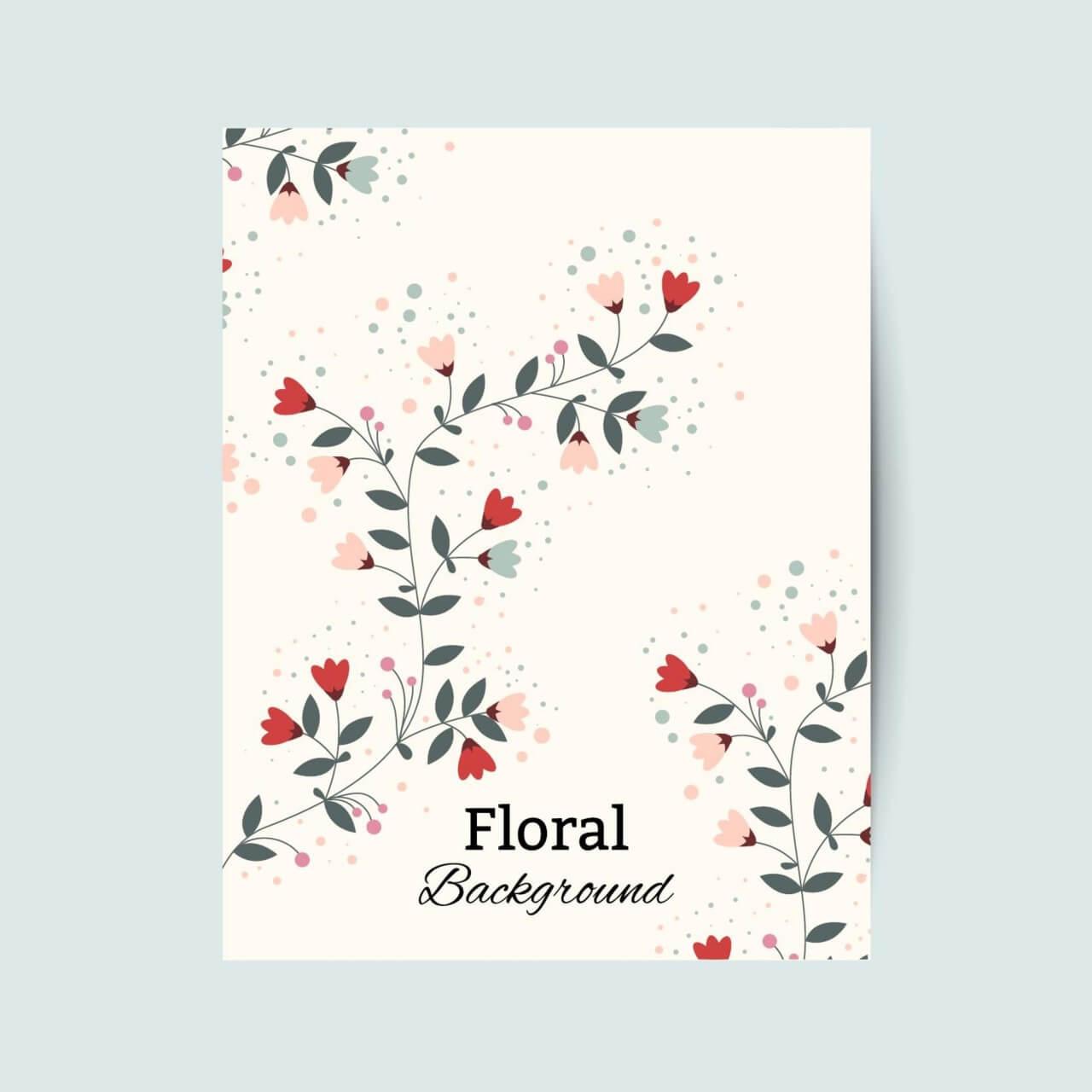 """Free vector """"Floral vintage flyer"""""""