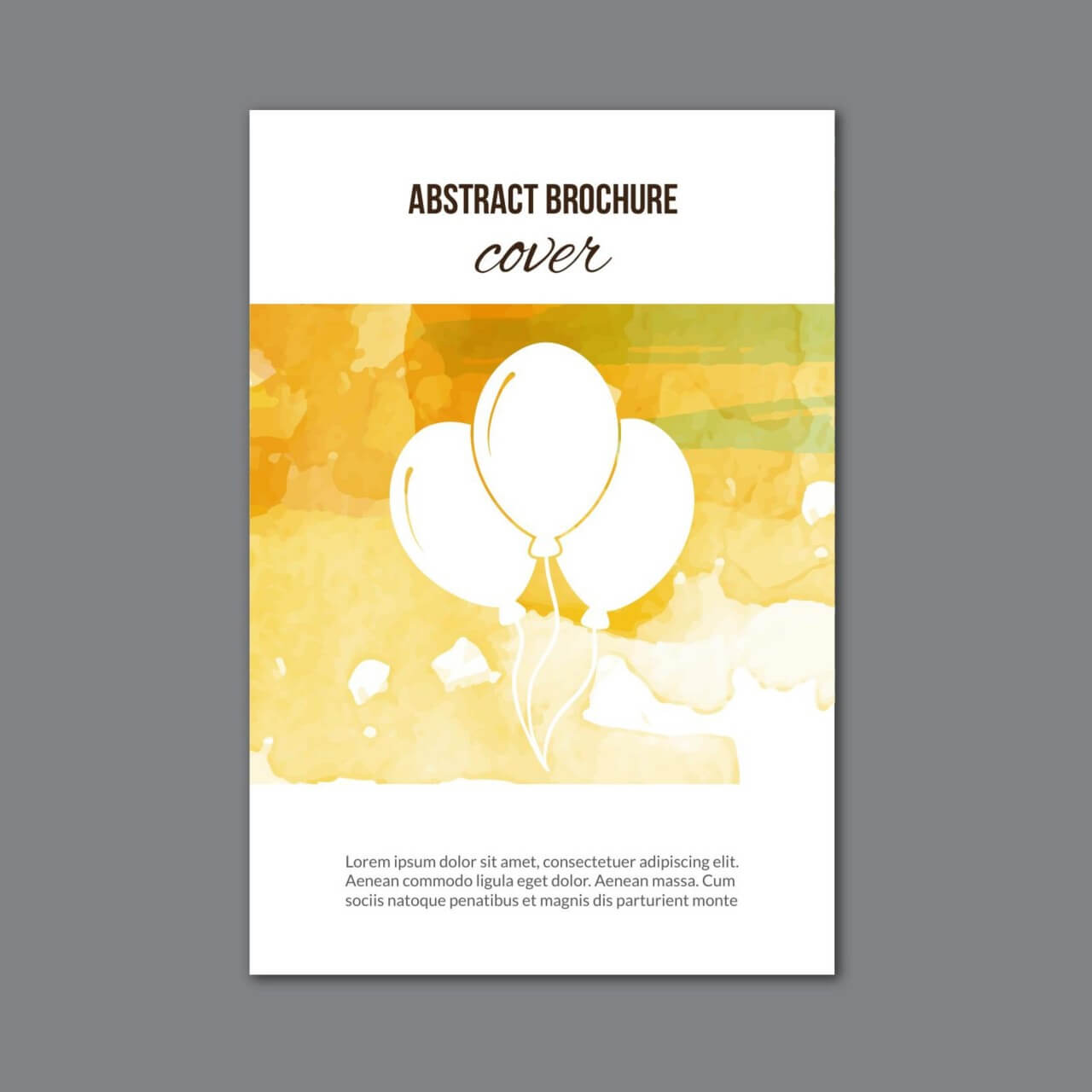 "Free vector ""Watercolor brochure """