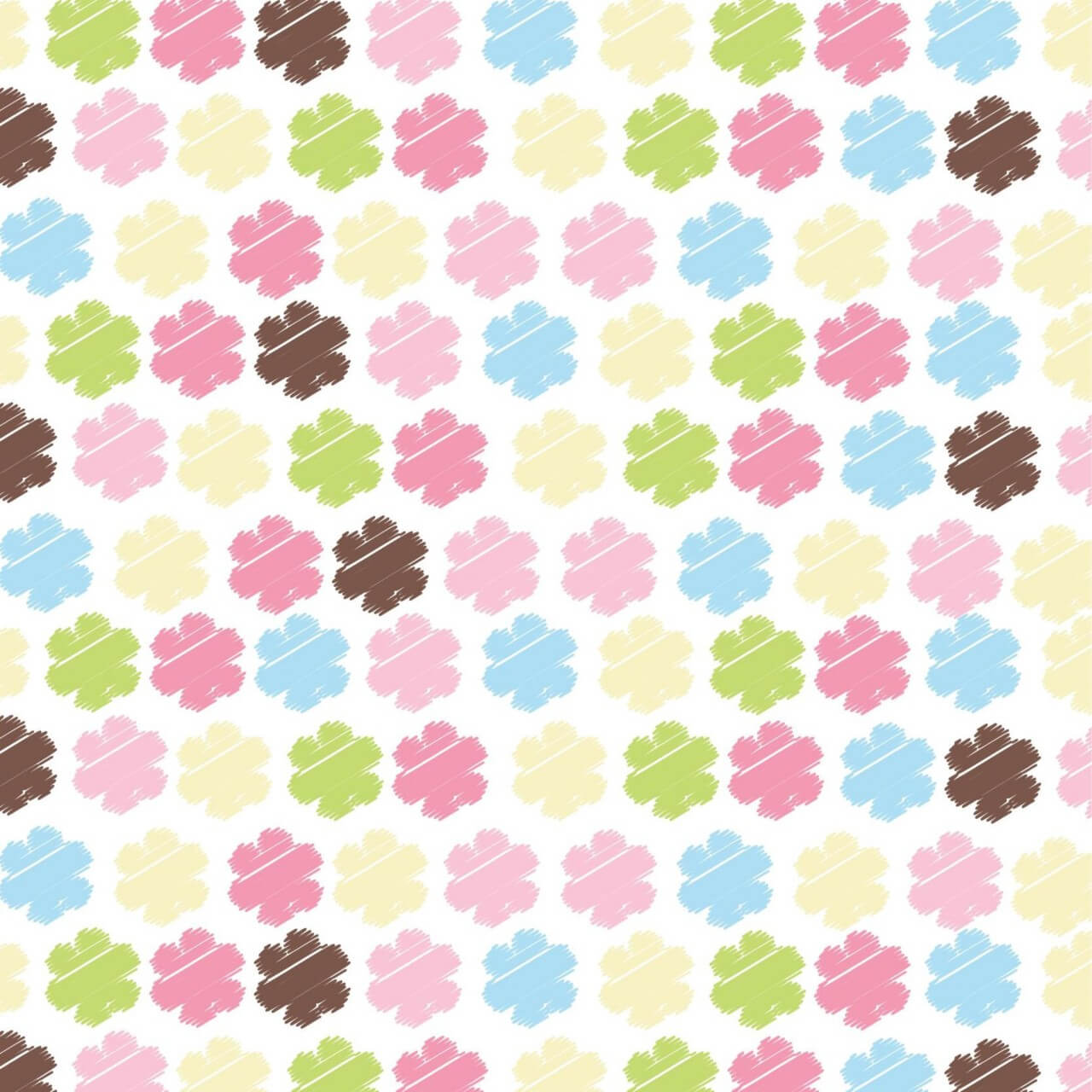 "Free vector ""Seamless pattern with flowers"""