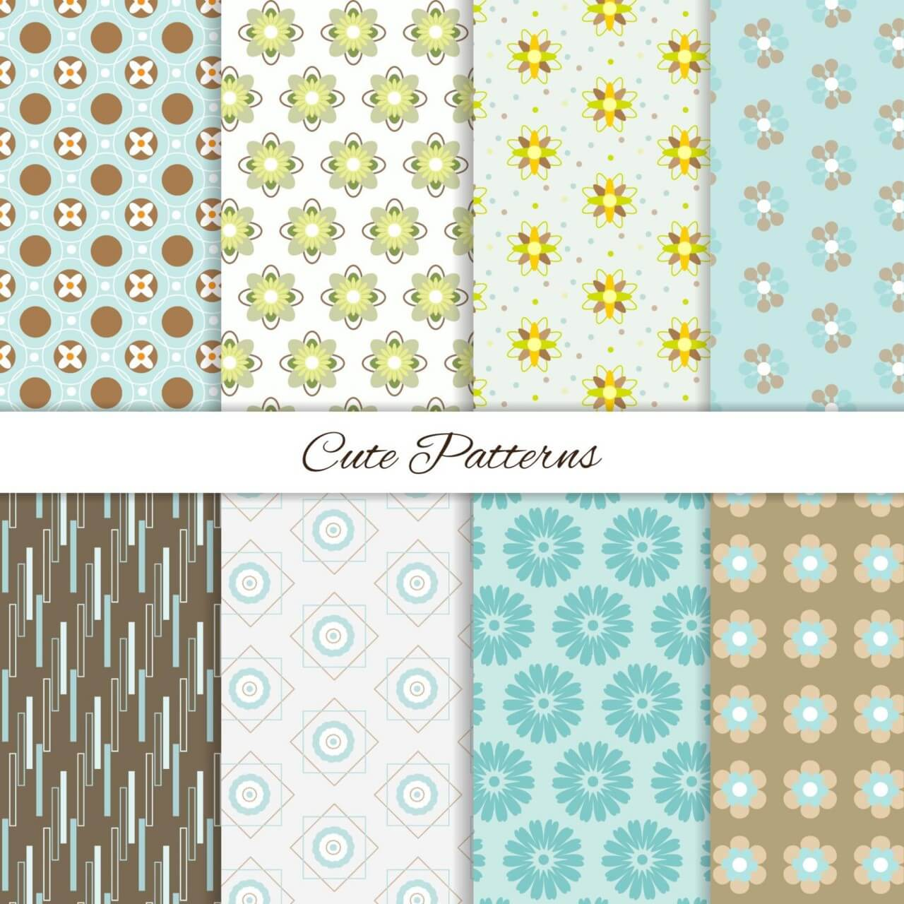 "Free vector ""Seamless patterns set"""