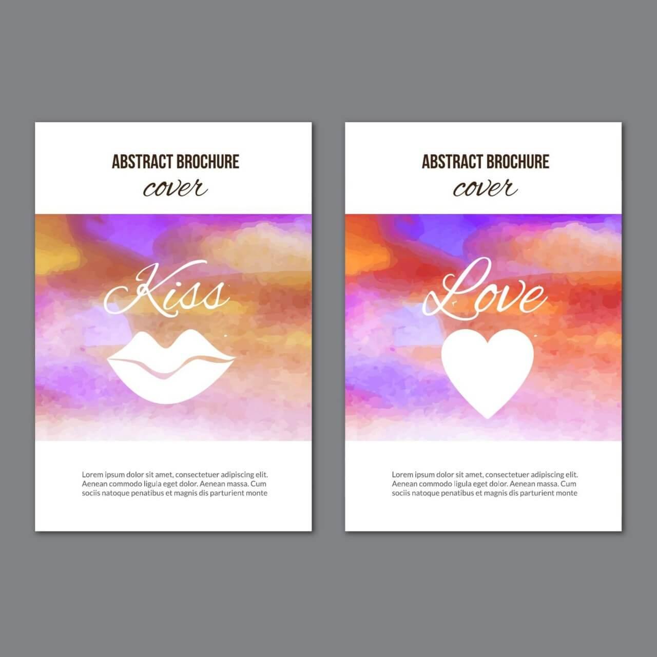 """Free vector """"Watercolor brochures"""""""