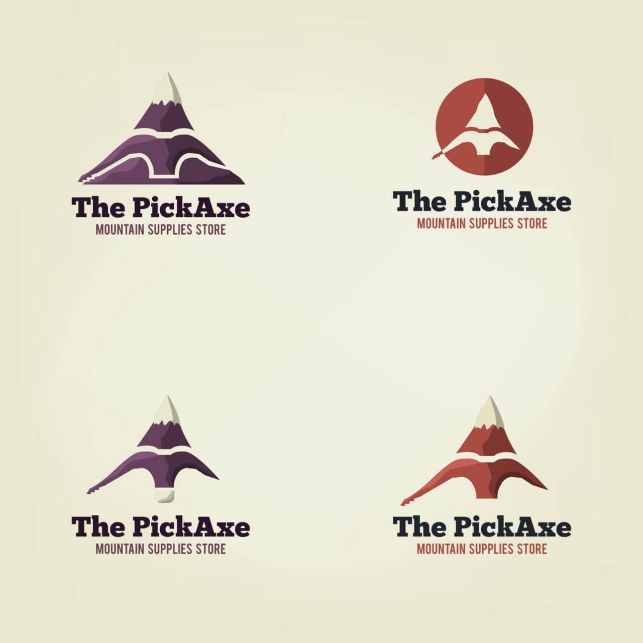 """Free vector """"Vector pick axe logo"""""""