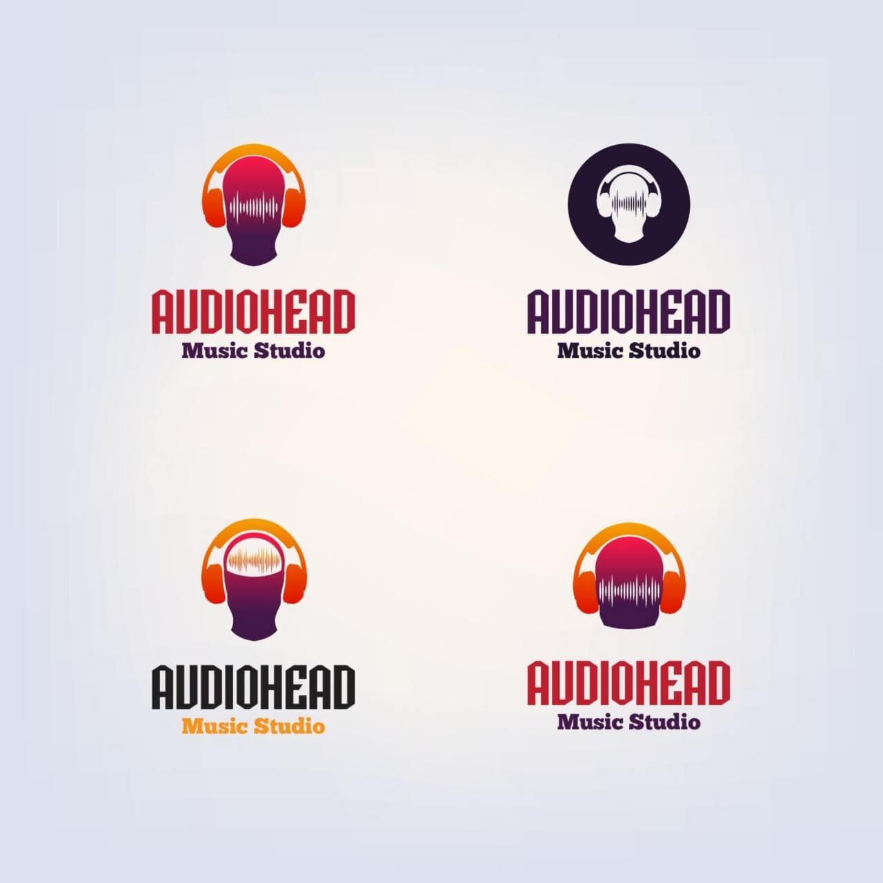 Free Vector Dj Vector Logo Design Template