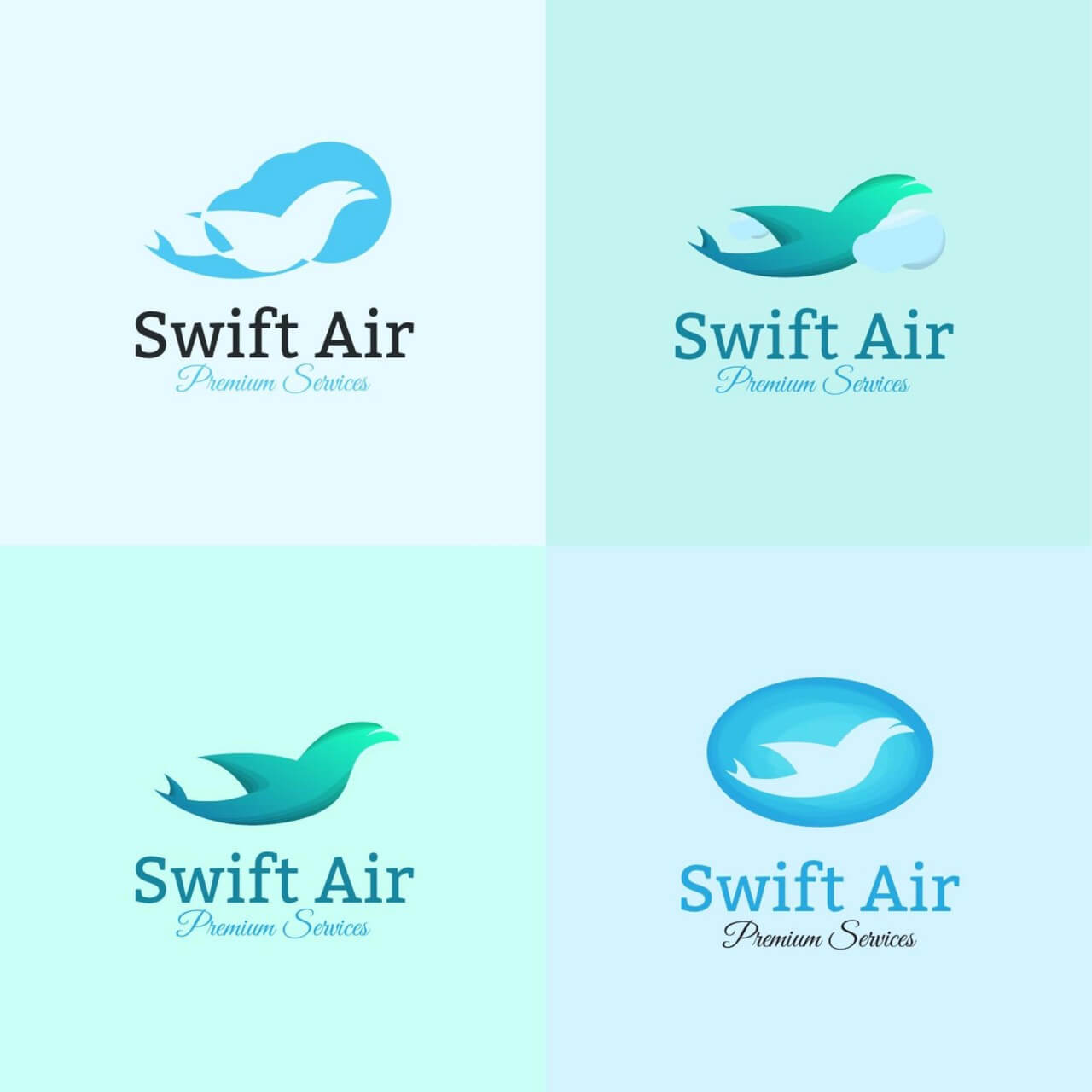 "Free vector ""Airline logo template"""