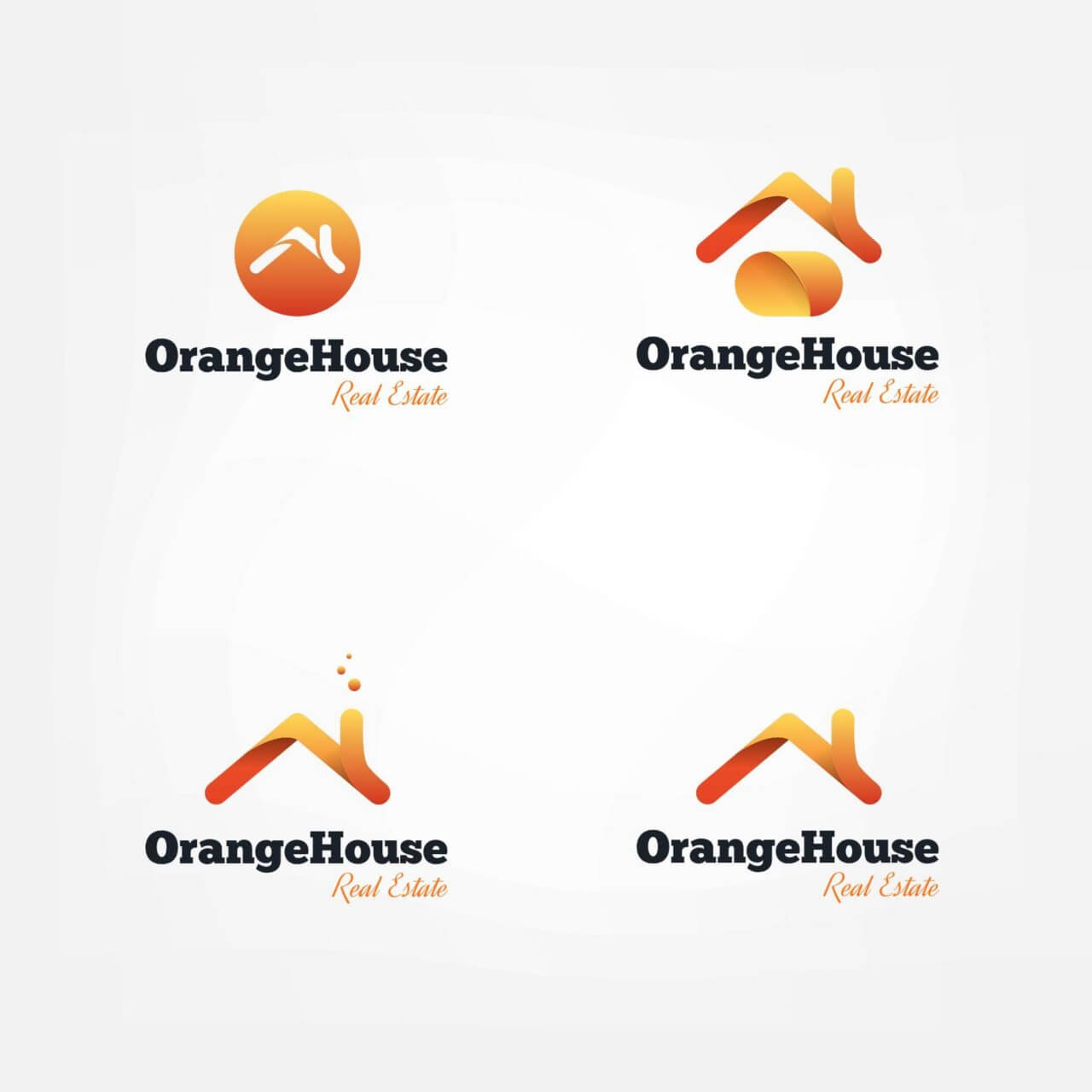 "Free vector ""Vector house roofs logo"""