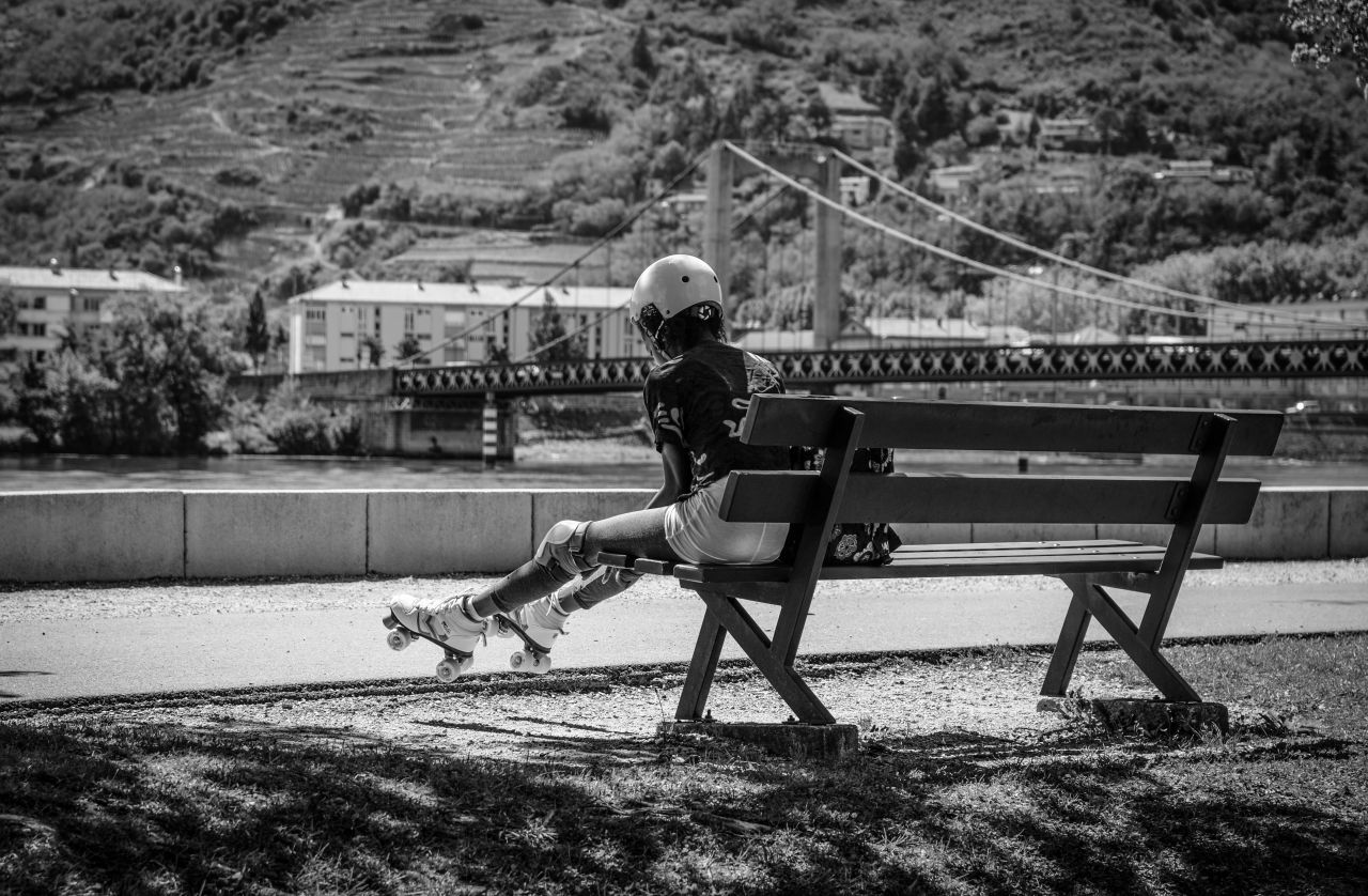 "Free photo ""The rollerskater"""