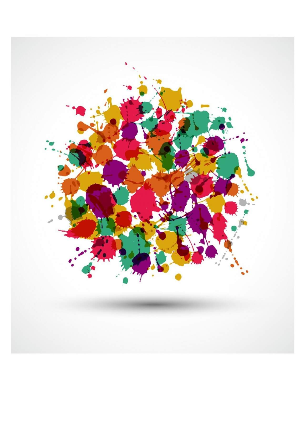 """Free vector """"Banners of color blots"""""""