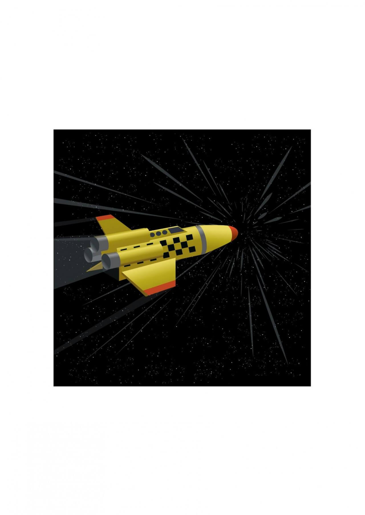 "Free vector ""Space shuttle"""