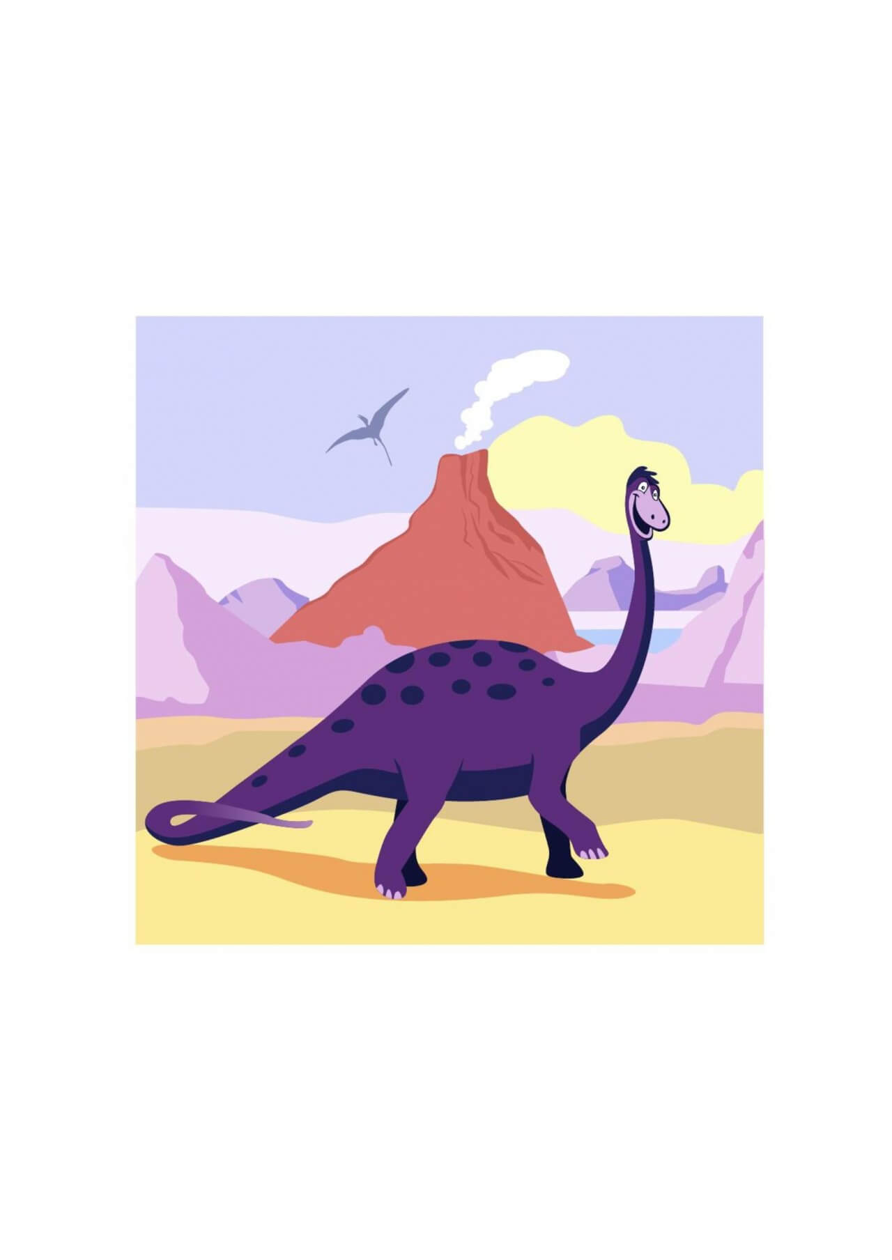 "Free vector ""Dinosaur cartoon"""