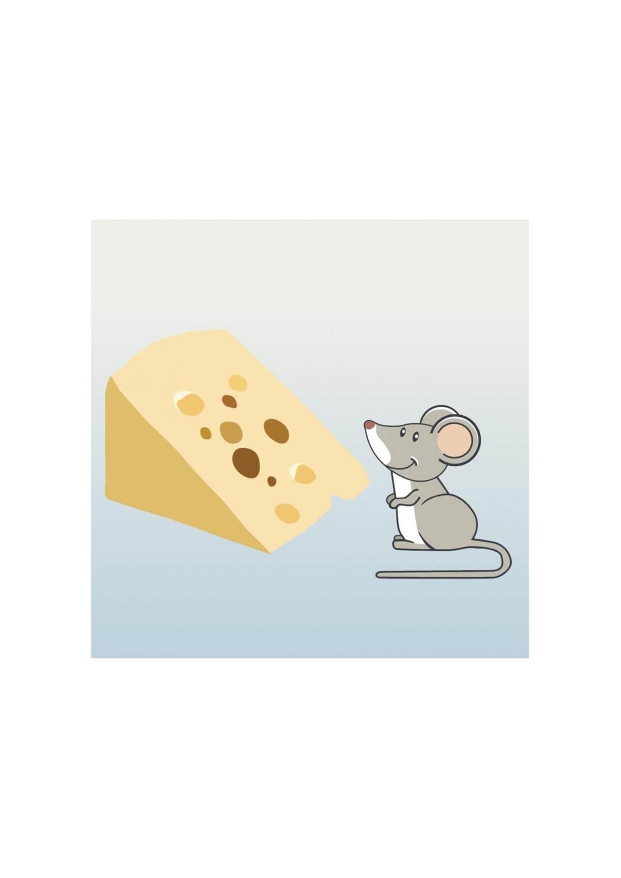 "Free vector ""Mouse and cheese"""