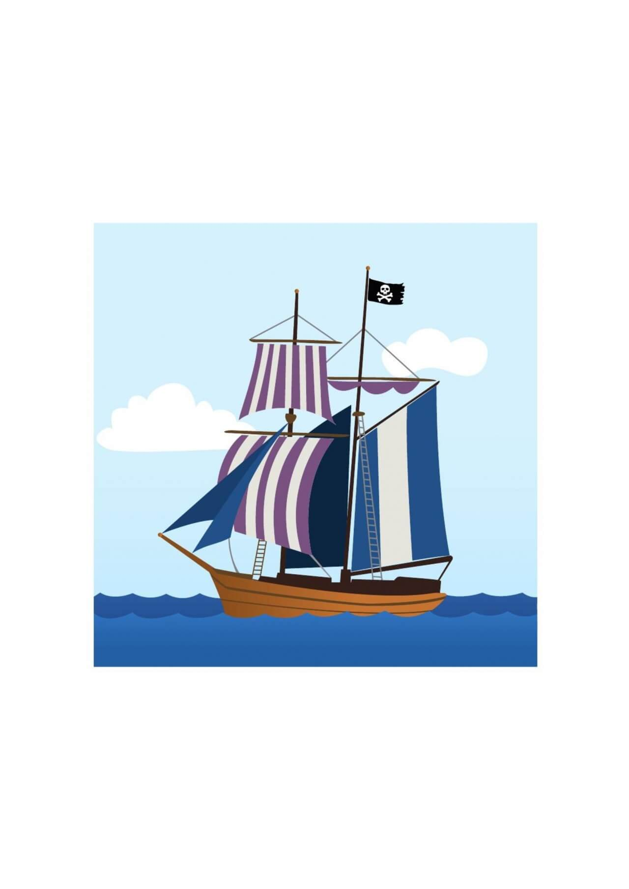 "Free vector ""Pirate ship"""