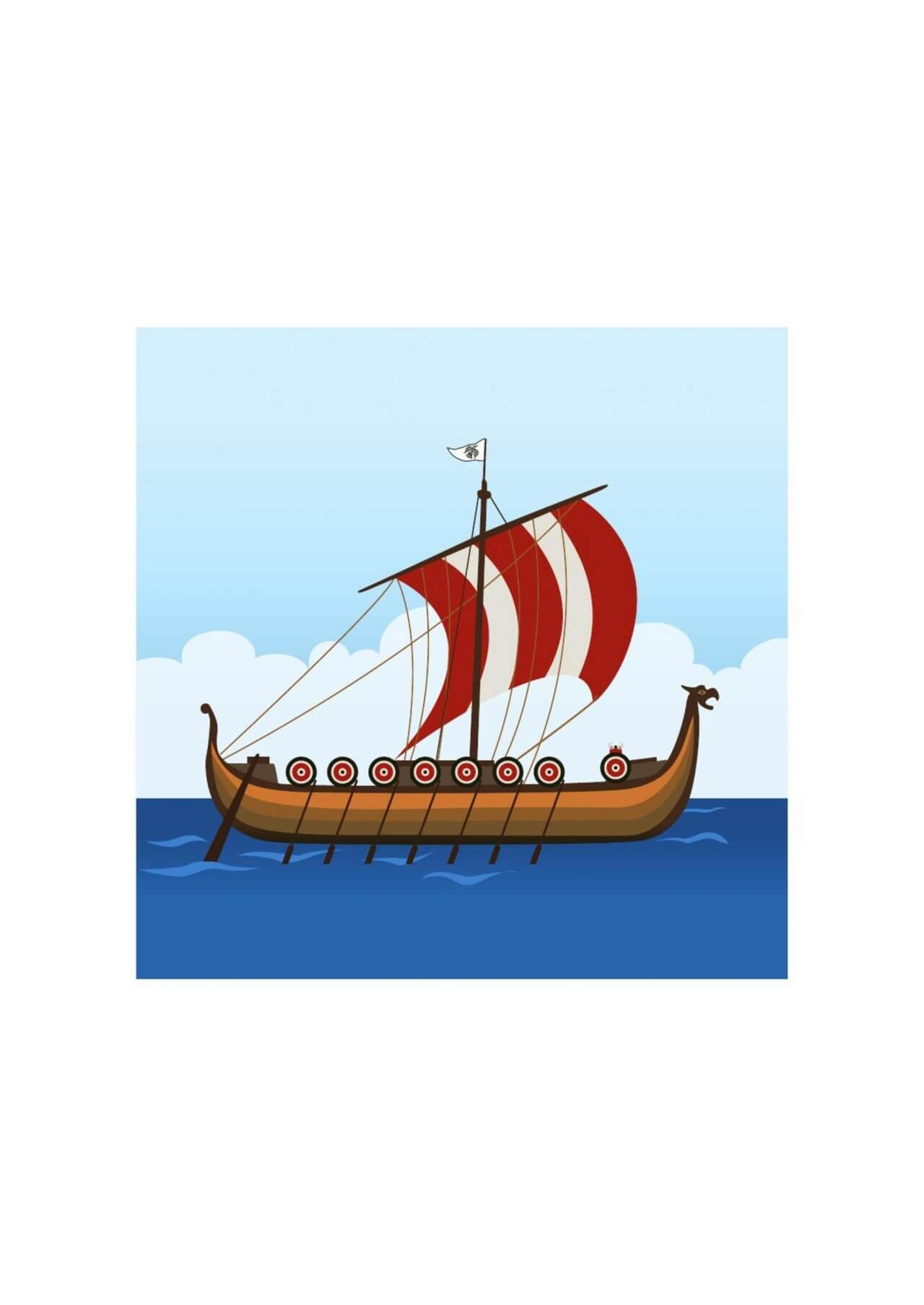 "Free vector ""Viking ship"""