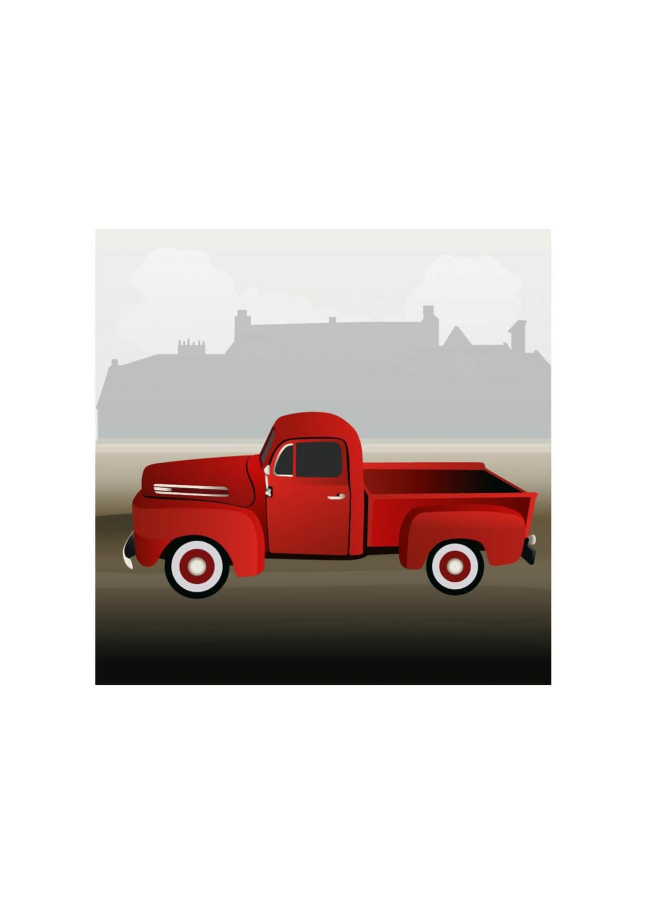 """Free vector """"Small truck"""""""