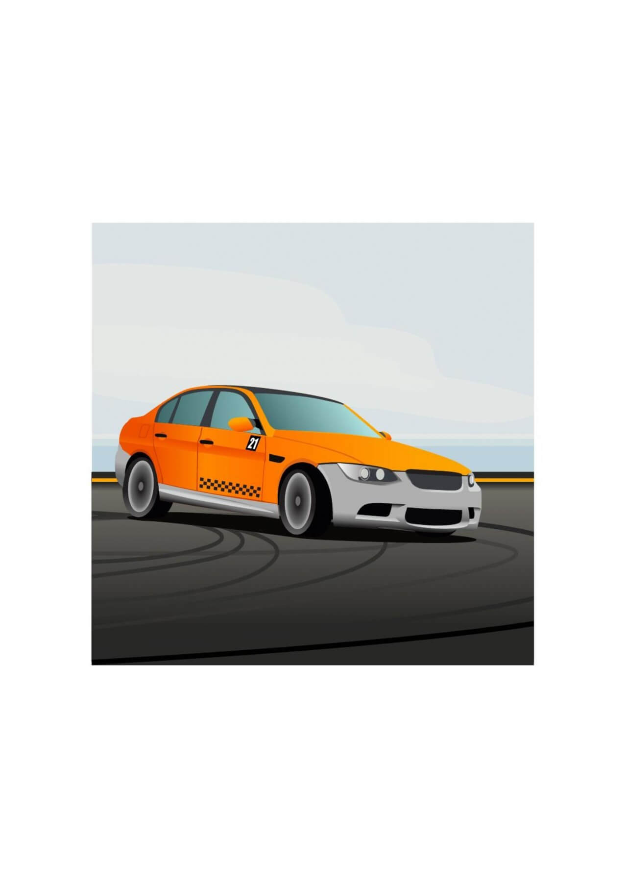 "Free vector ""Racing car"""