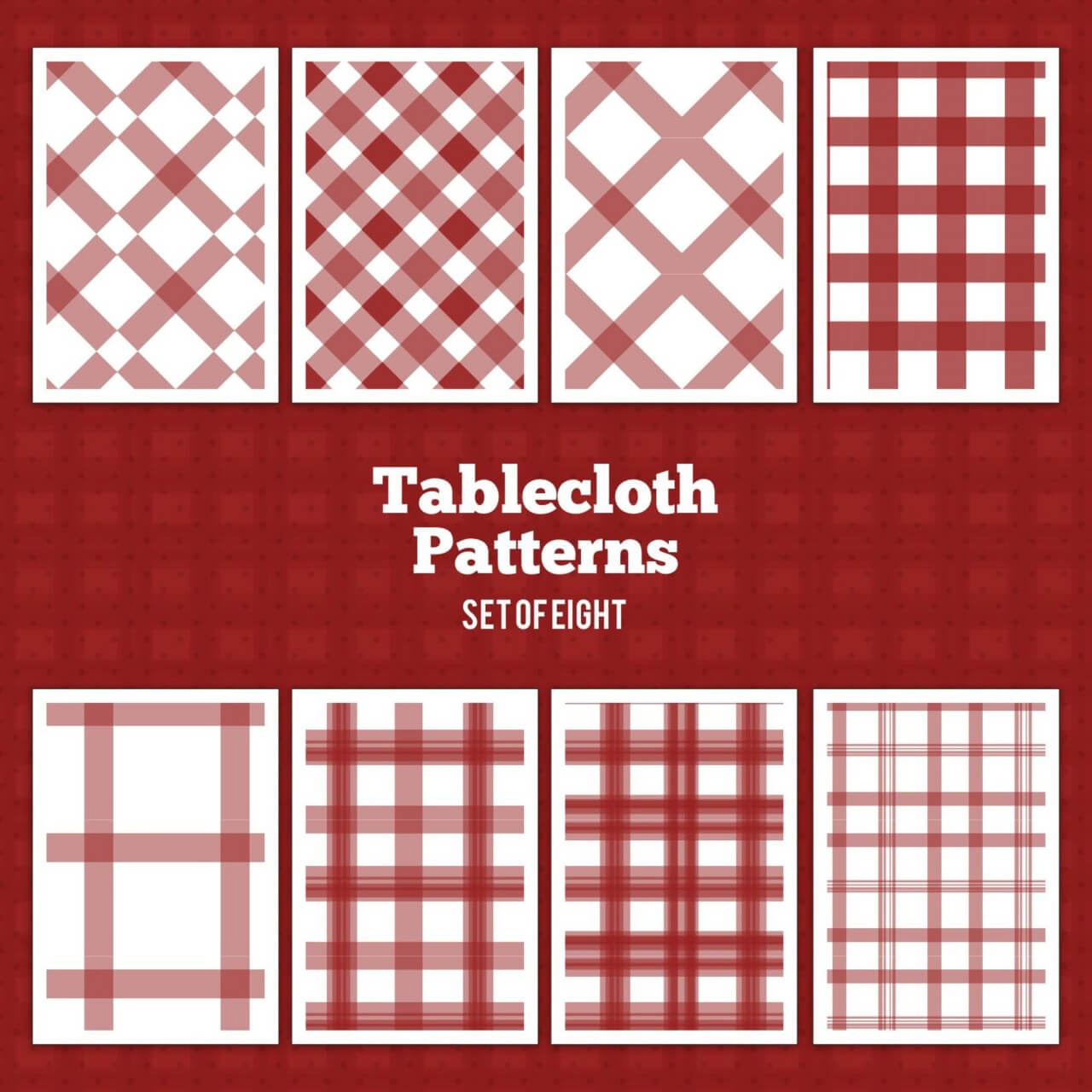 "Free vector ""Tablecloth Vector Patterns"""
