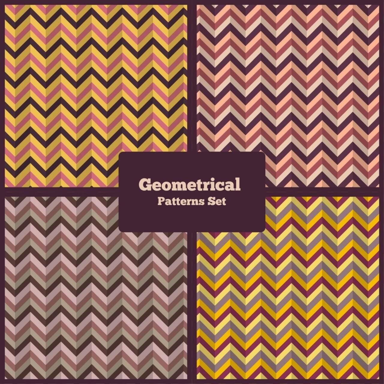 "Free vector ""Geometrical Patterns Set"""