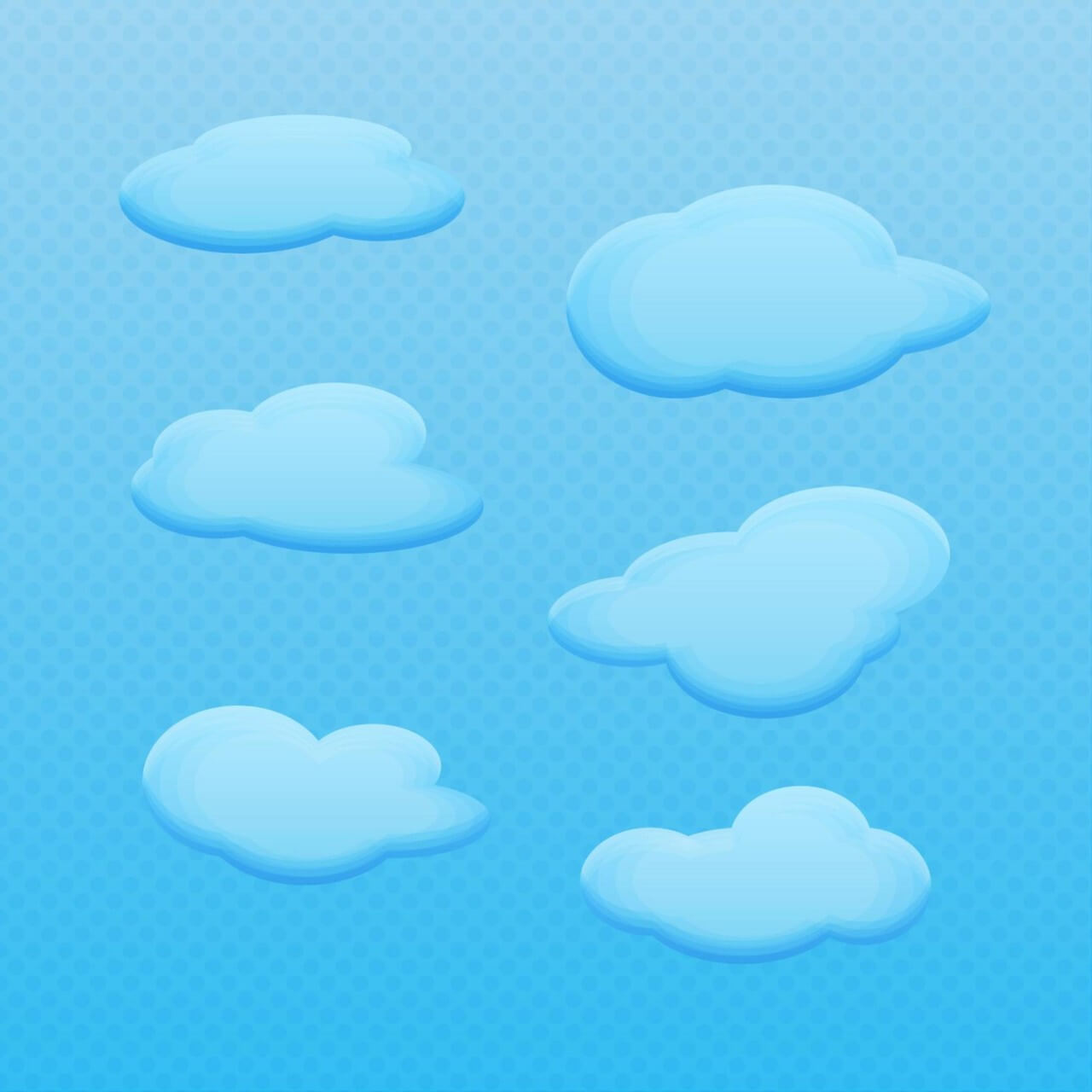 "Free vector ""Vector Cartoon Clouds"""