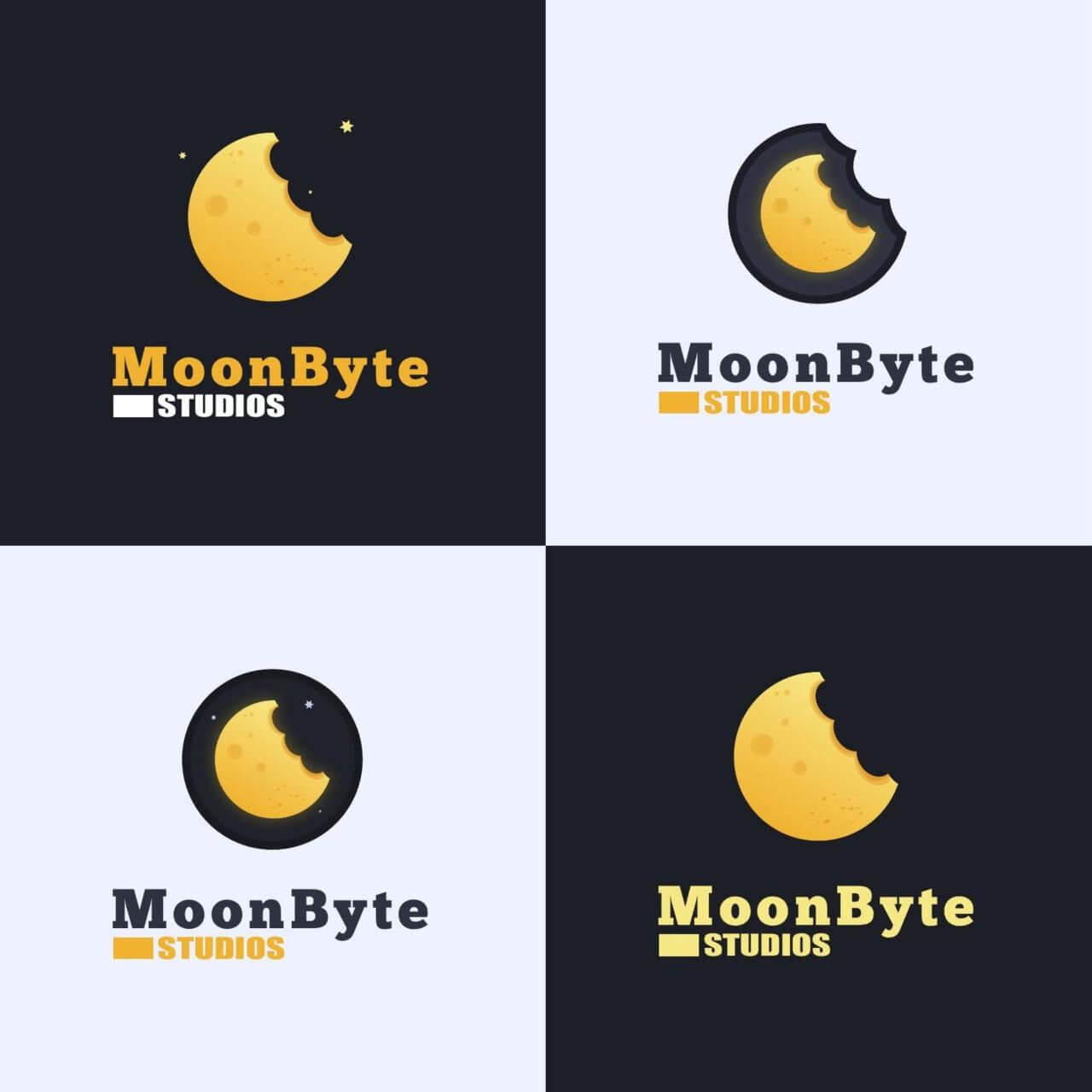 "Free vector ""Moon Byte Logo Design"""