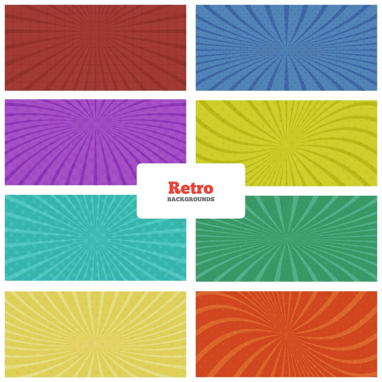 "Free vector ""Retro Backgrounds Set"""